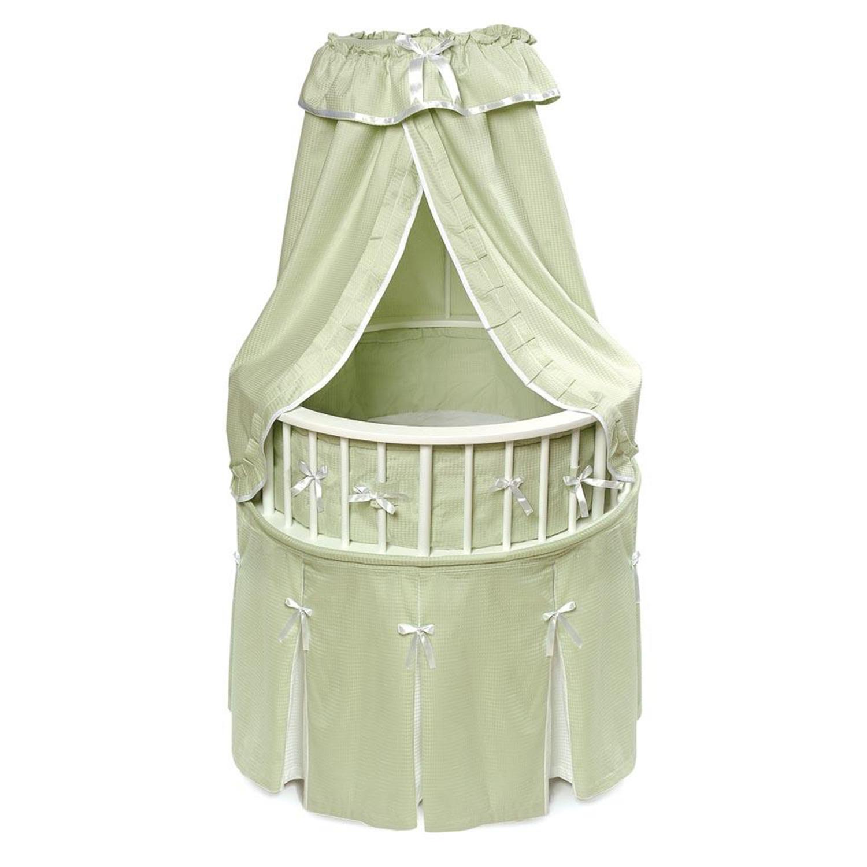 Badger basket elegance round baby bassinet by oj commerce for Baby bassinet