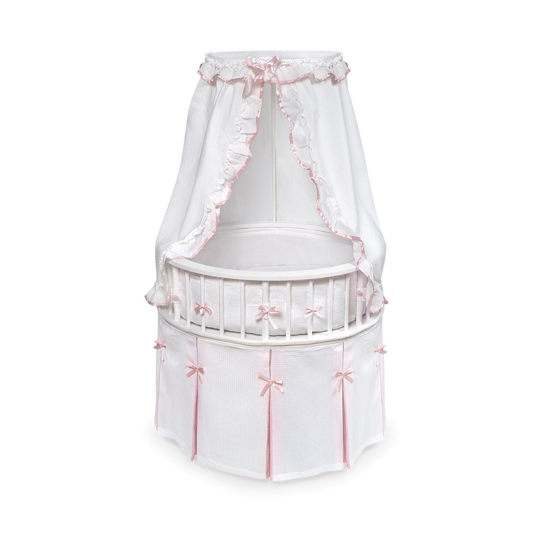 Badger Basket Elegance Round Baby Bassinet By Oj Commerce 227 04 245 04