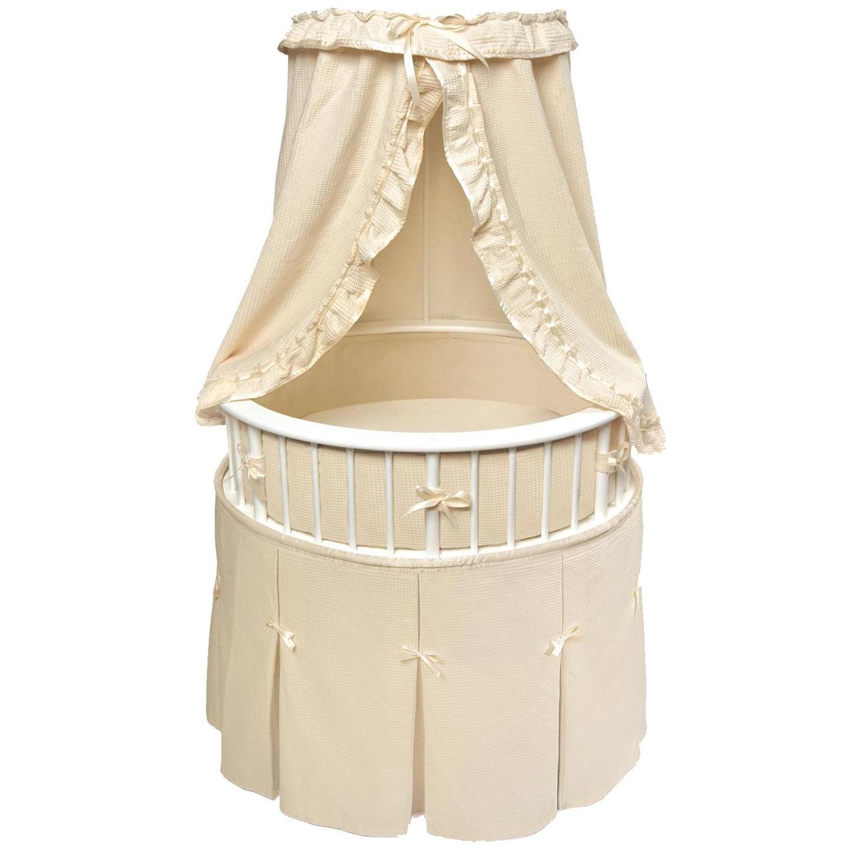 Badger basket elite oval baby bassinet by oj commerce 124 for Baby bassinet