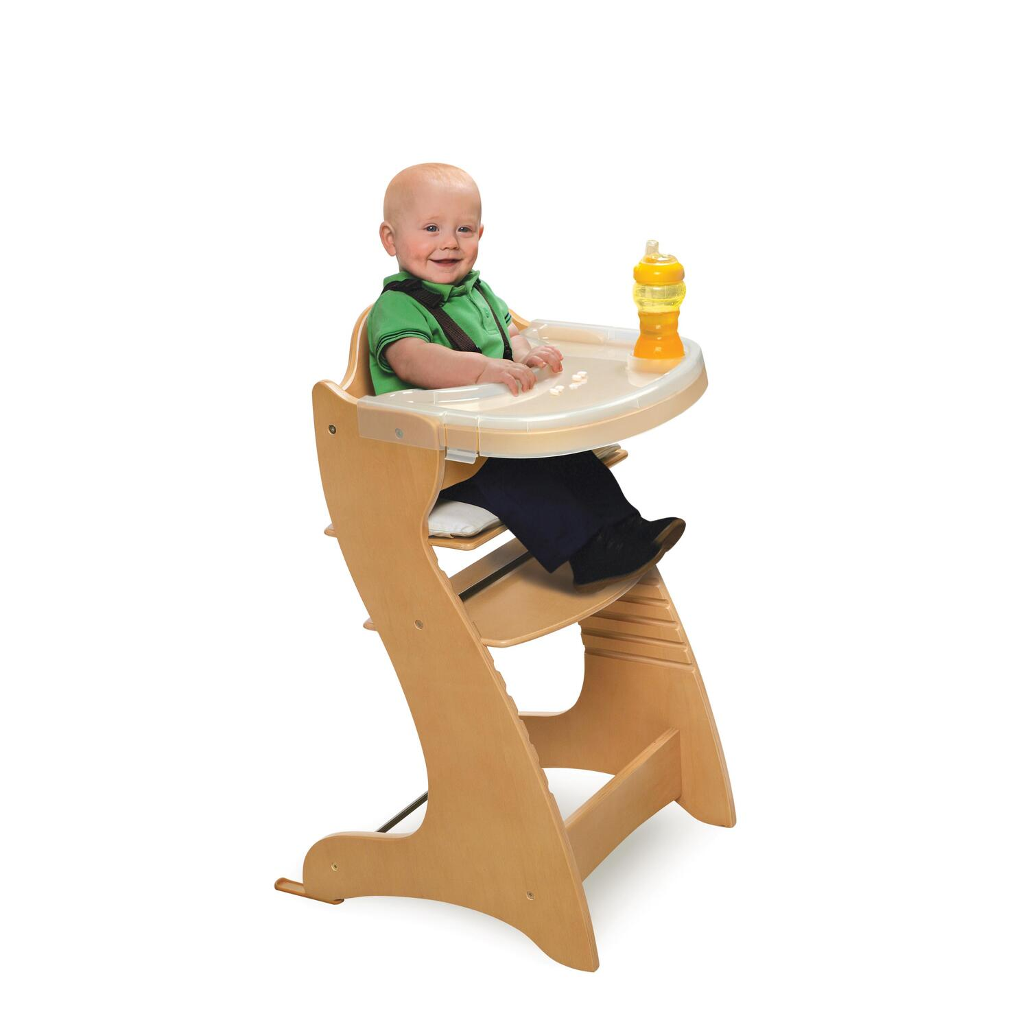 Badger Basket Embassy Wood High Chair With Tray By Oj