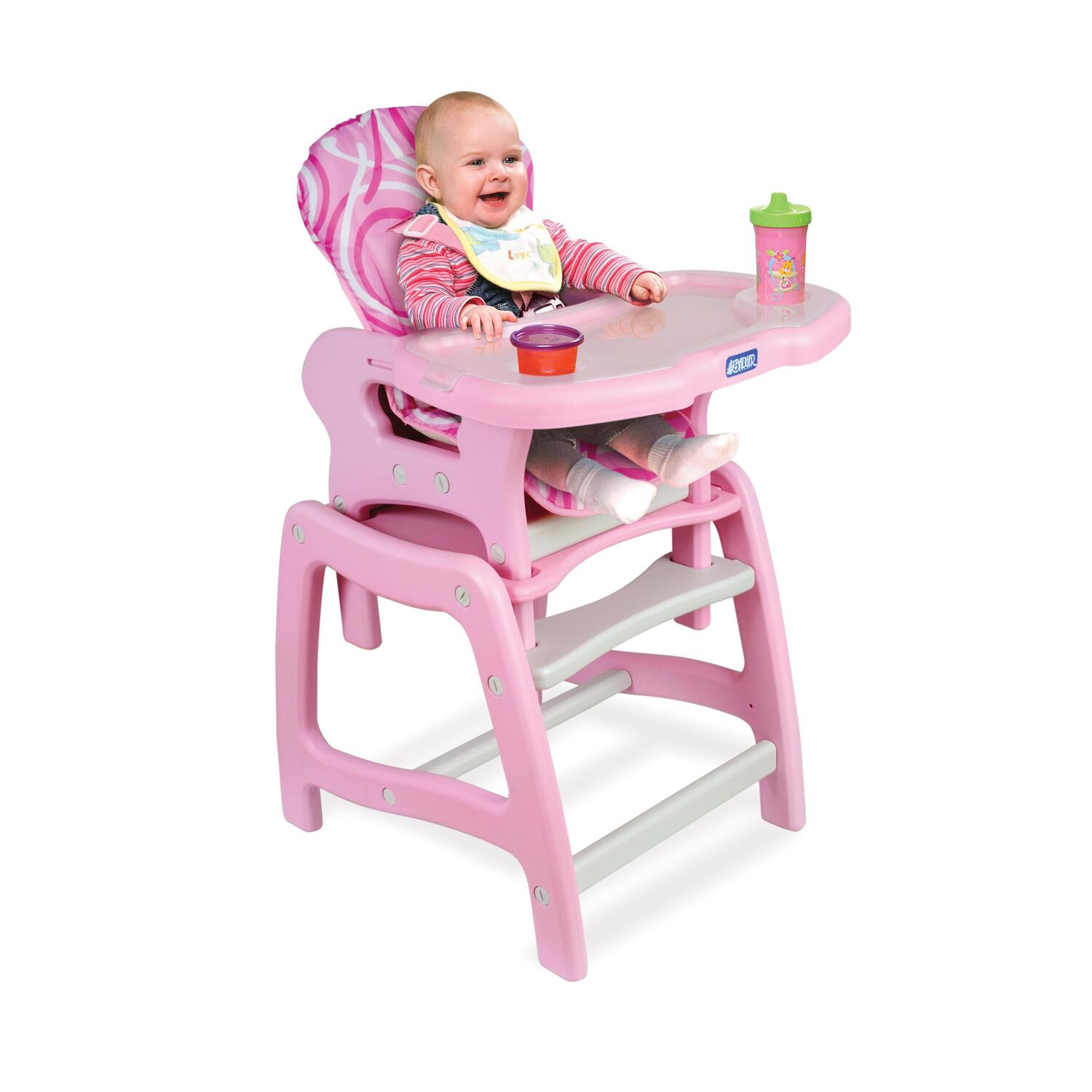 Badger Basket Envee™ Baby High Chair with Playtable