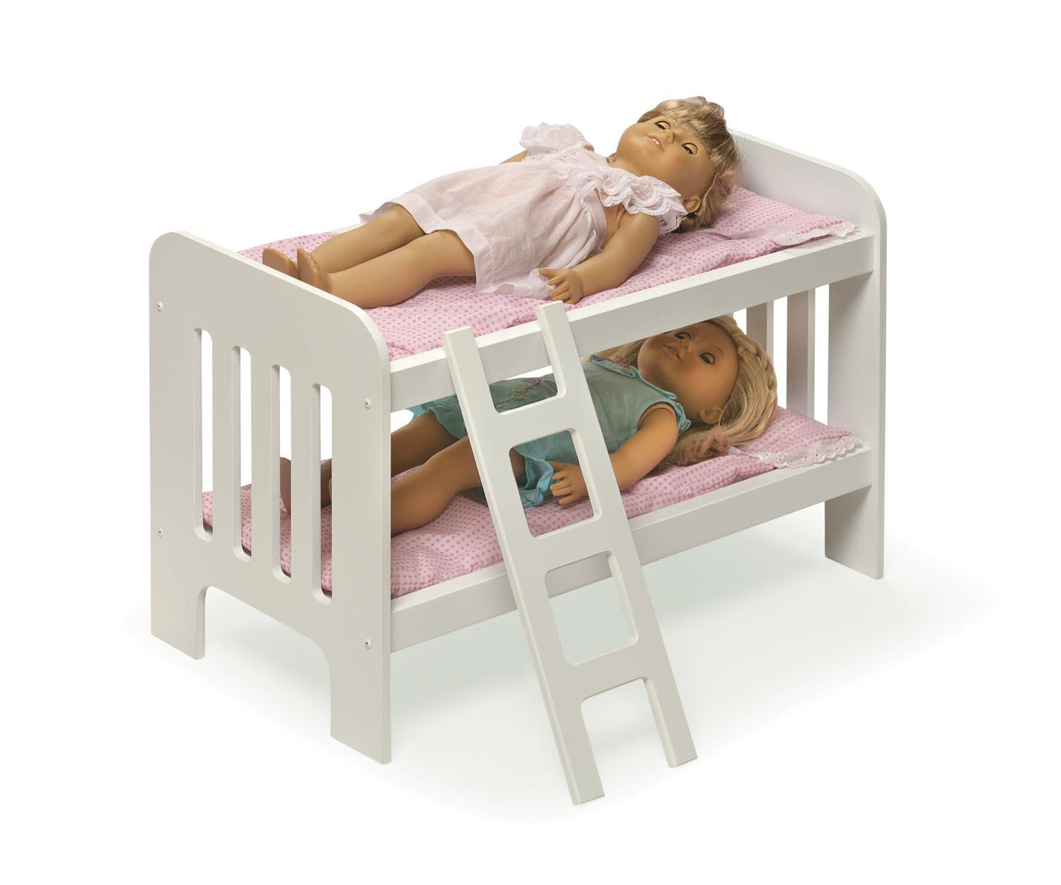 badger basket doll bunk beds with ladder and bedding by oj