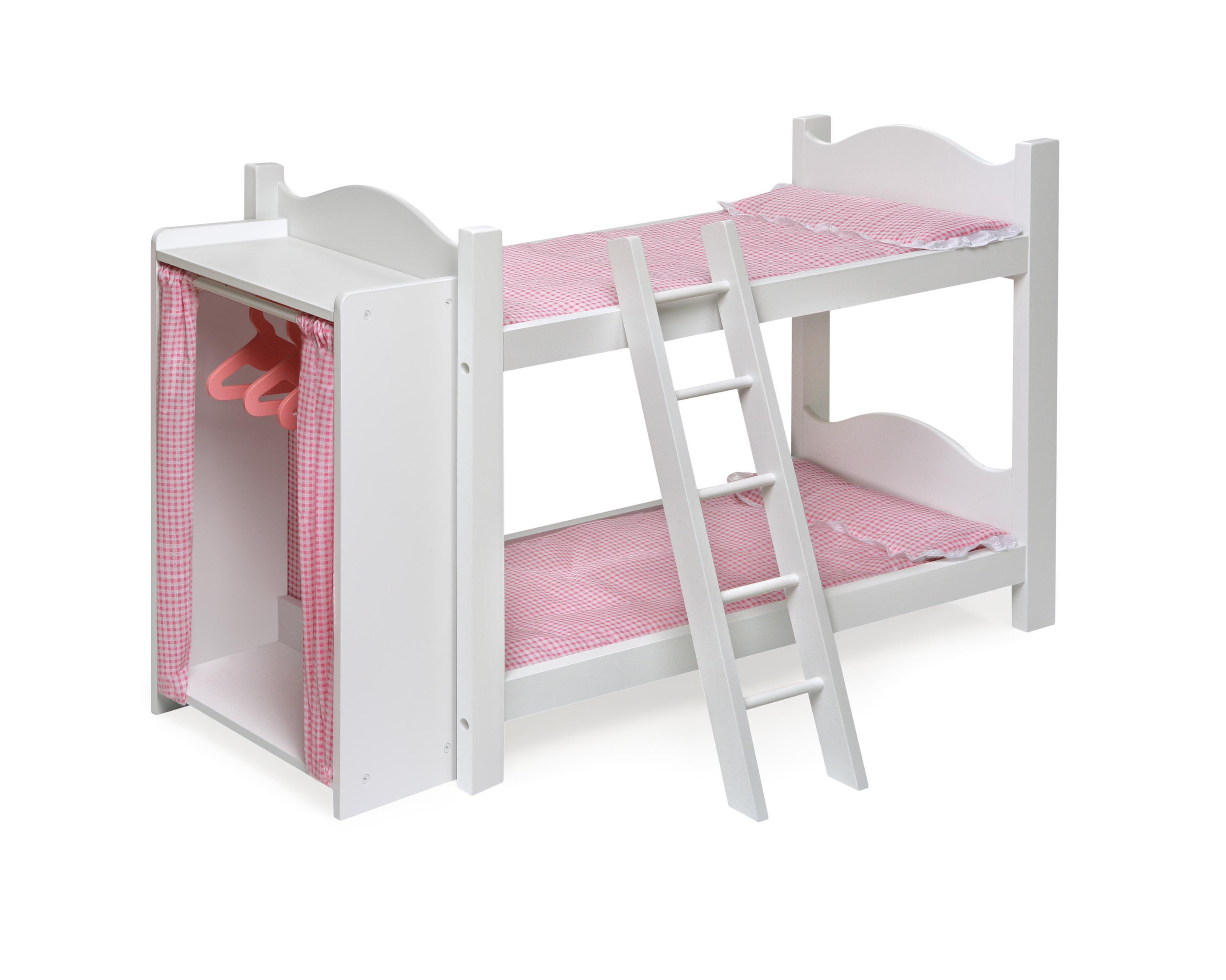 Badger Basket Doll Bunk Beds with Ladder and Storage Armoire by OJ ...