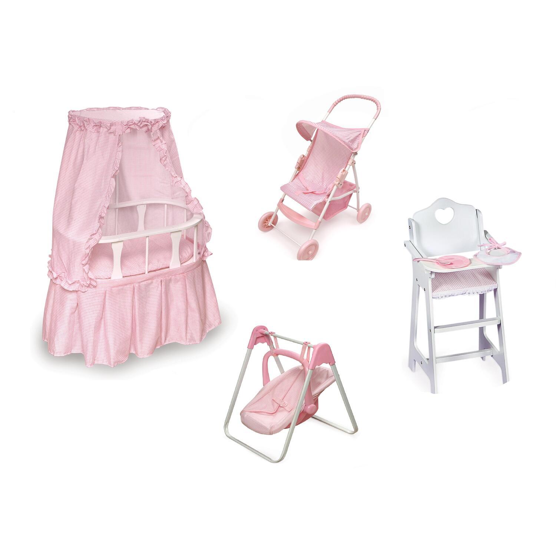Badger Basket Oval Doll Bassinet Furniture Set By Oj