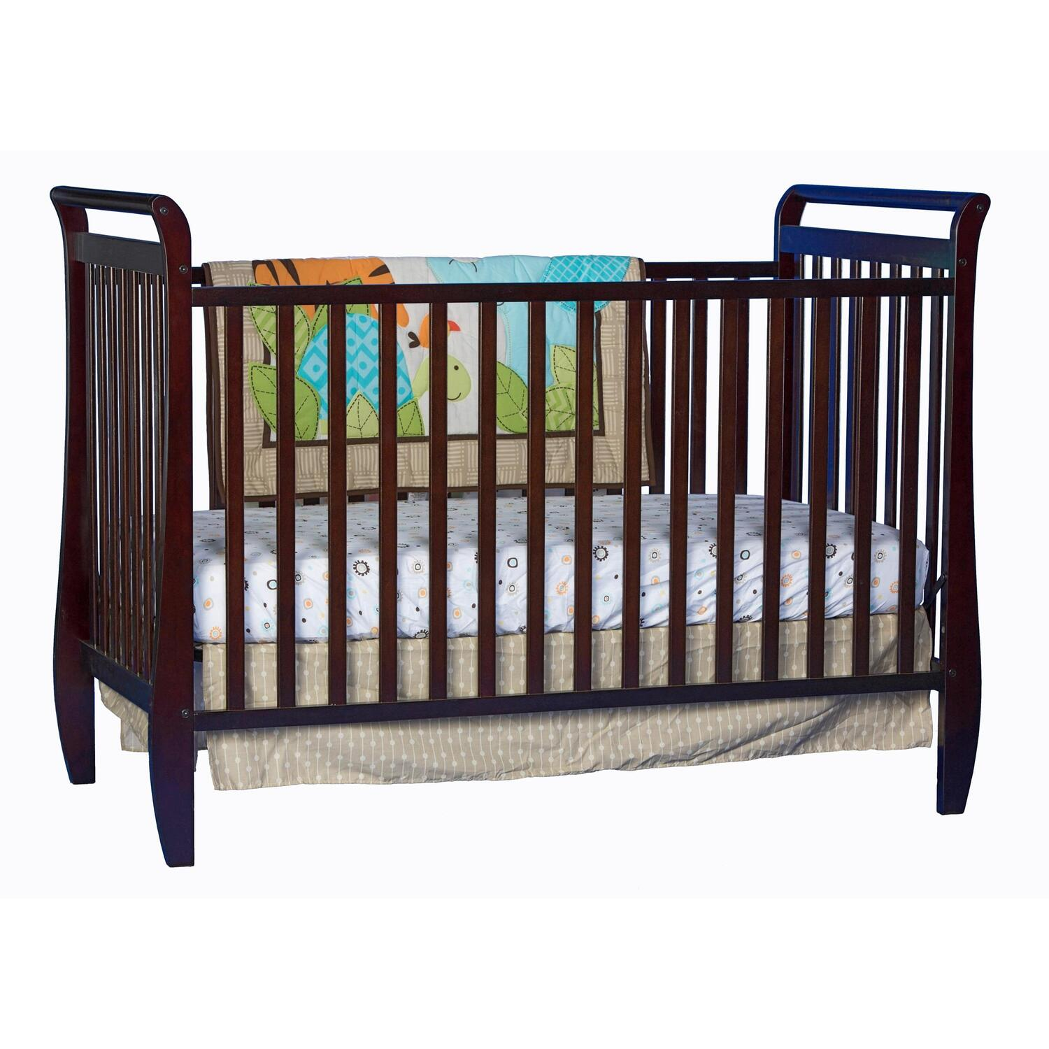 Storkcraft storkcraft sleigh 2 in 1 fixed side convertible for Child craft convertible crib instructions