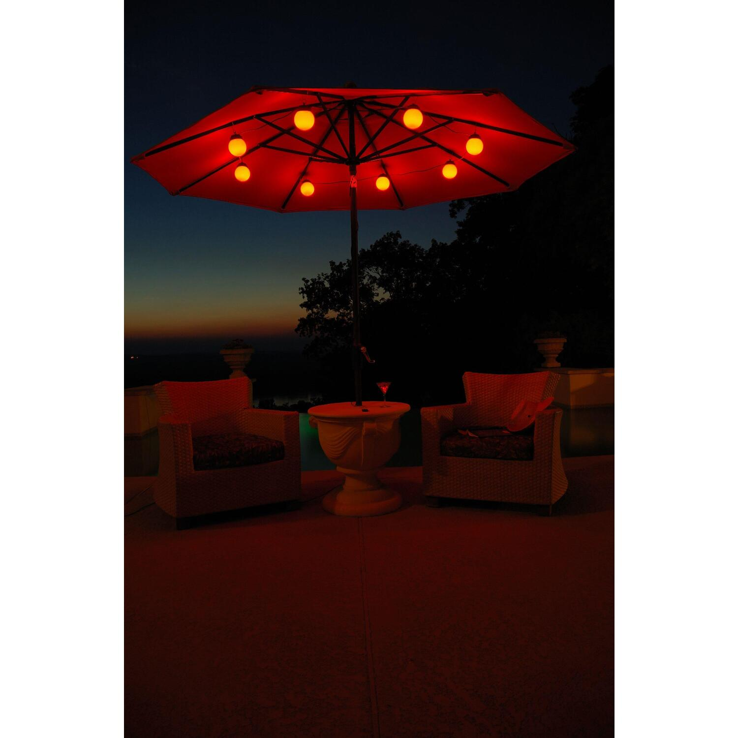 patio living concepts globe umbrella lights by oj commerce
