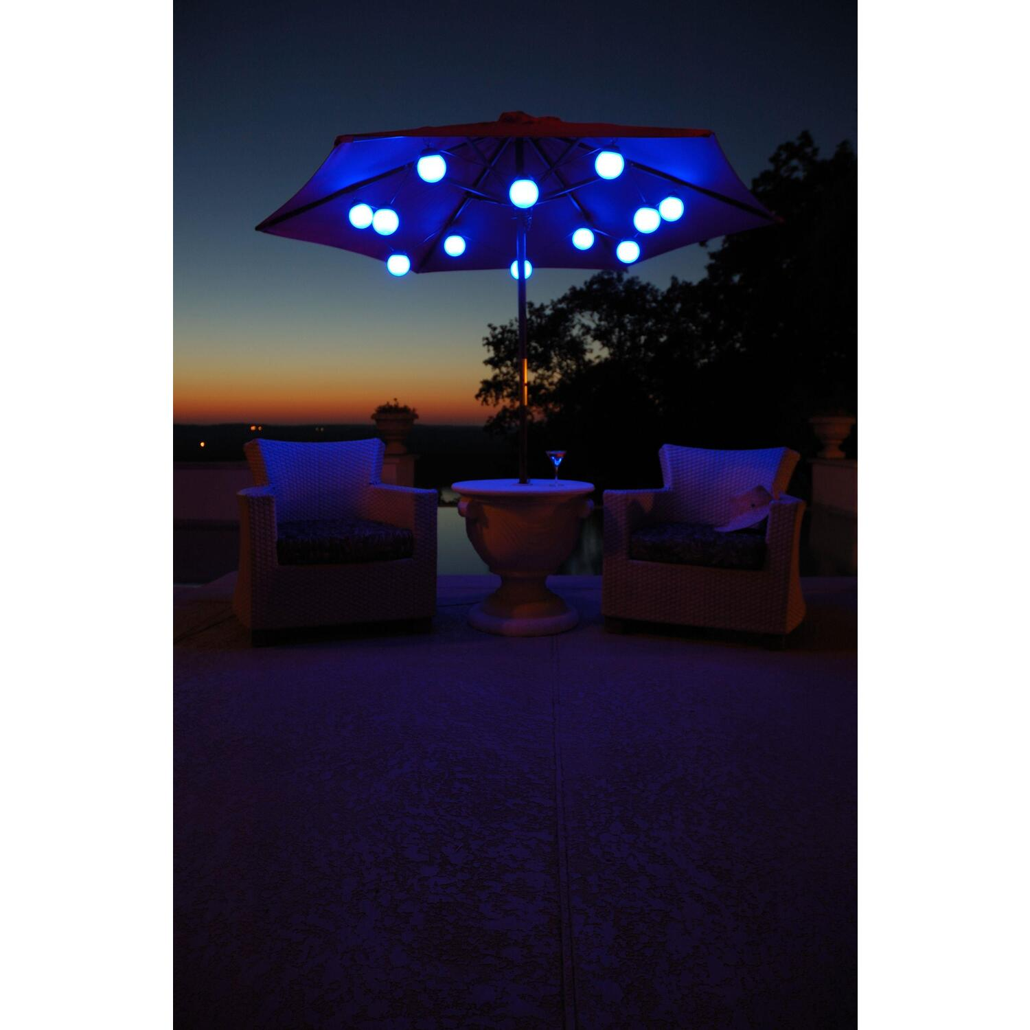 String Lights On Umbrella : Patio Living Concepts Globe Umbrella Lights by OJ Commerce USD 104.00 - USD 190.00