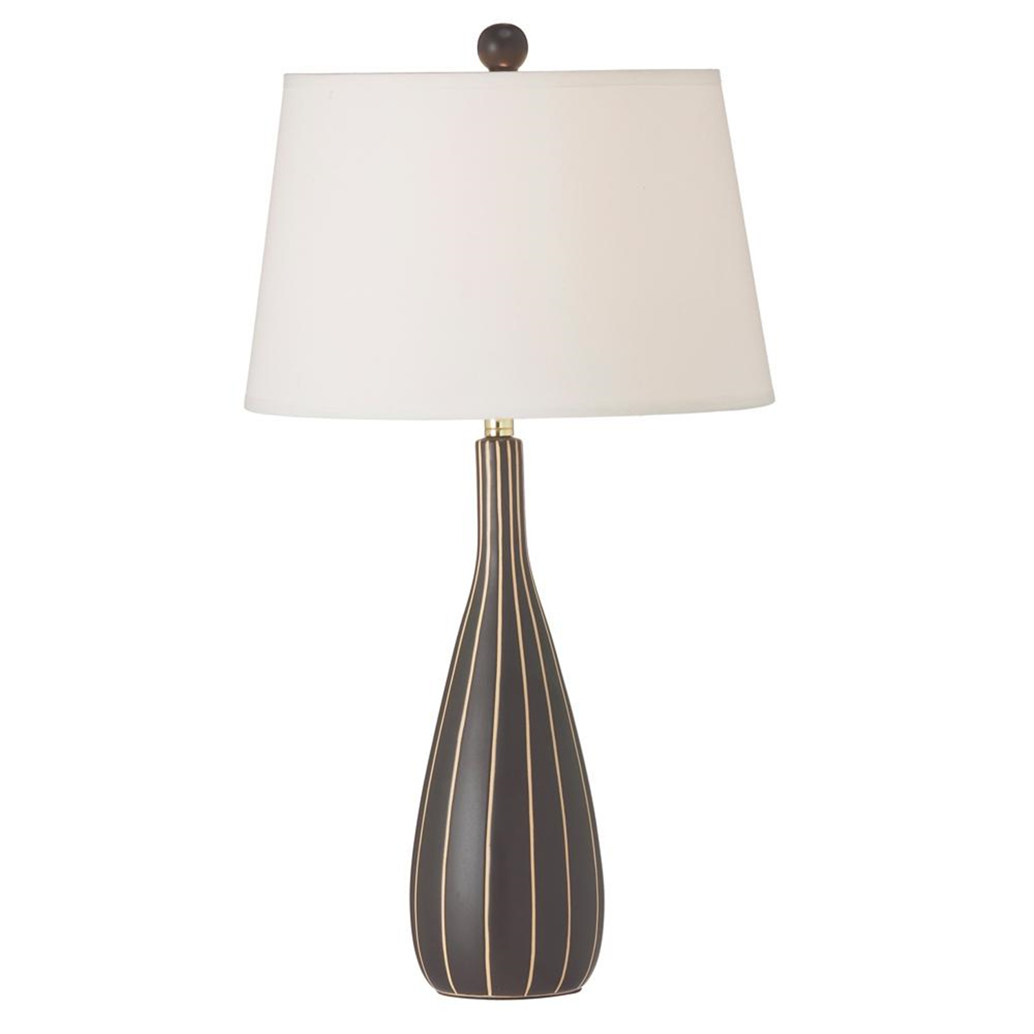 Dainolite Coffee Ceramic Table Lamp With Stripes By Oj Commerce