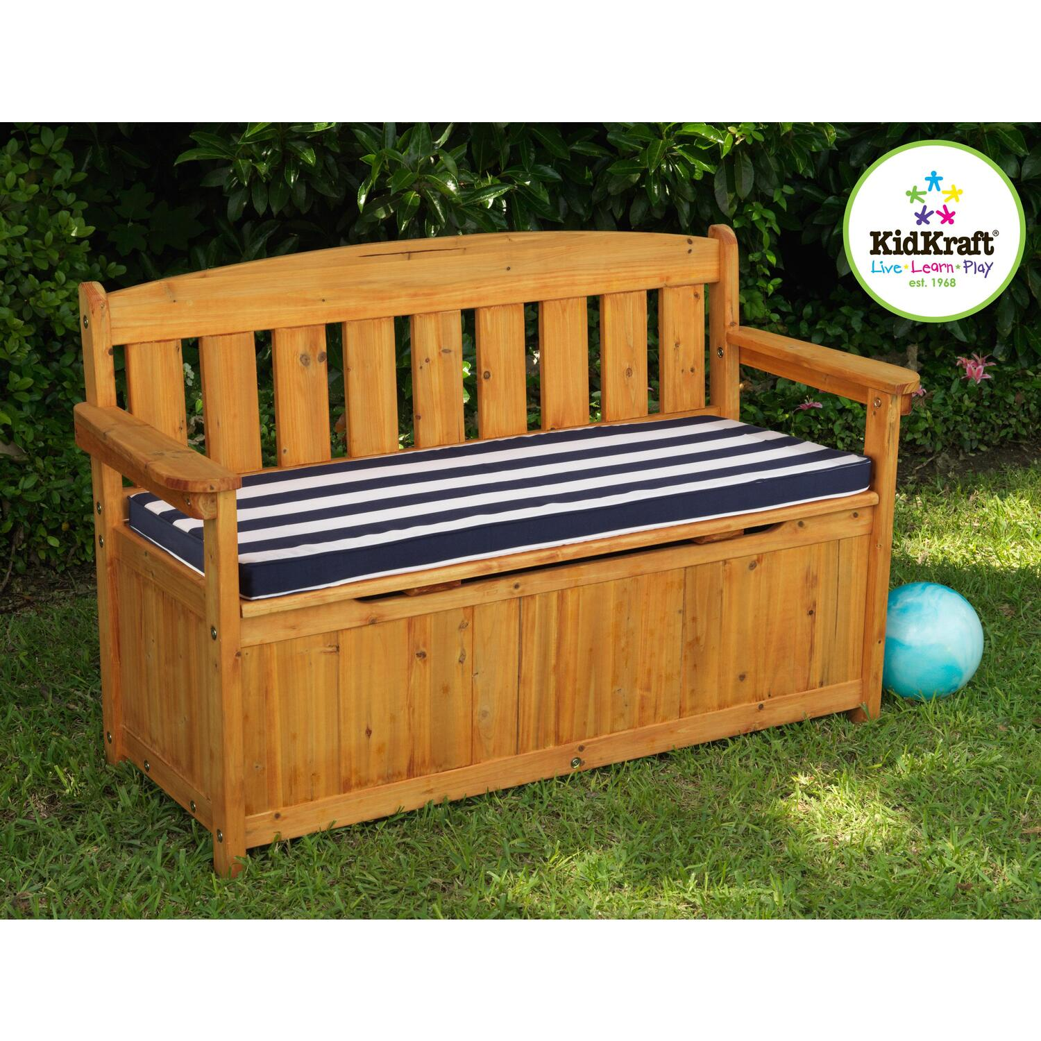 KidKraft Outdoor Storage Bench With Cushion By OJ Commerce 108C
