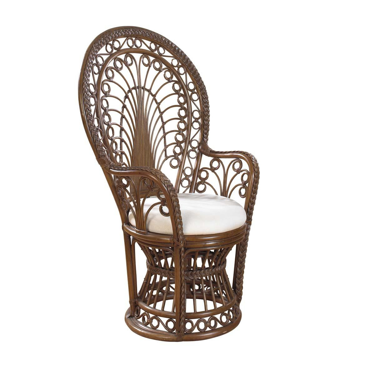 Rattan peacock chair with cushion by oj commerce 281 00