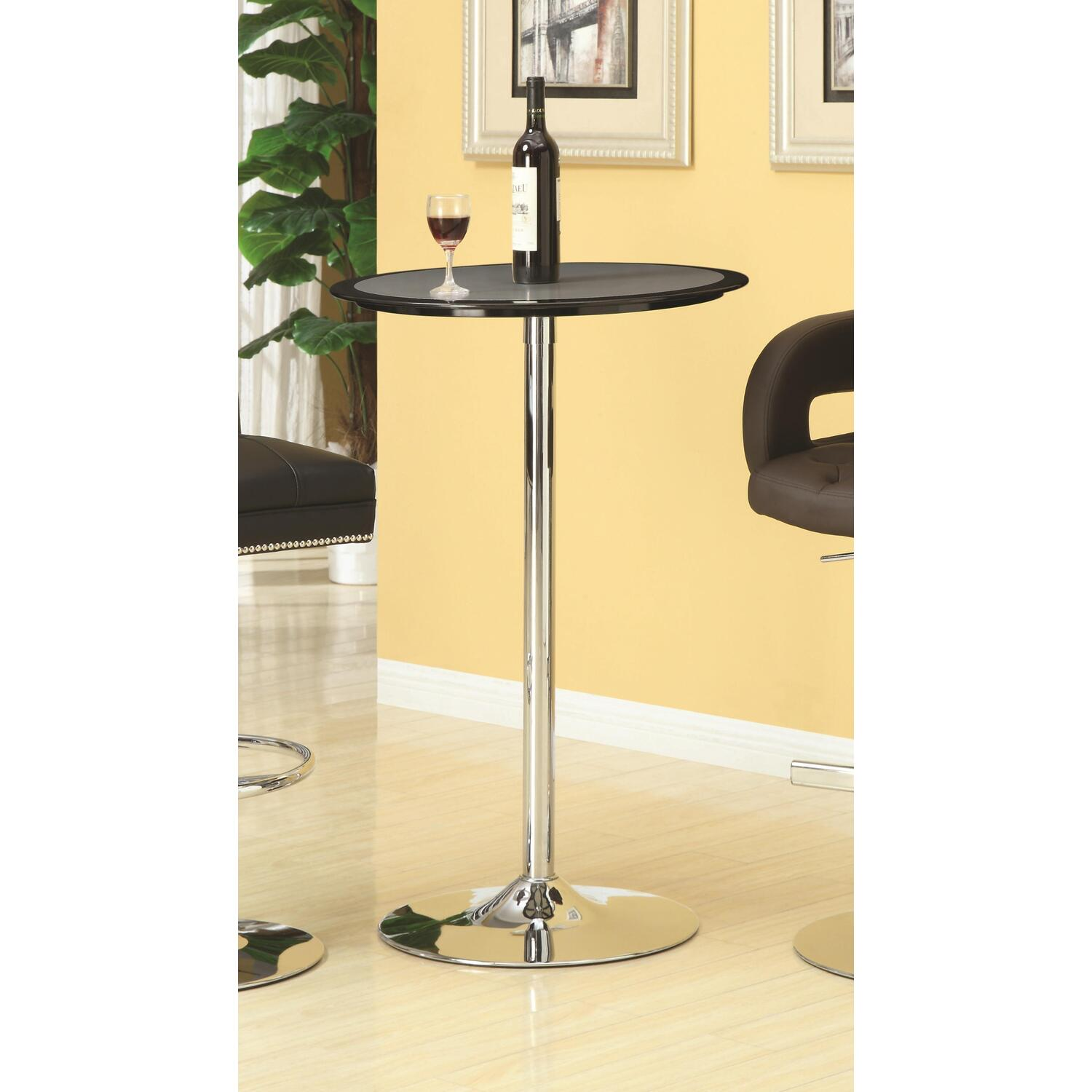 Hollywood home silver black pub table by oj commerce for 99 pub table