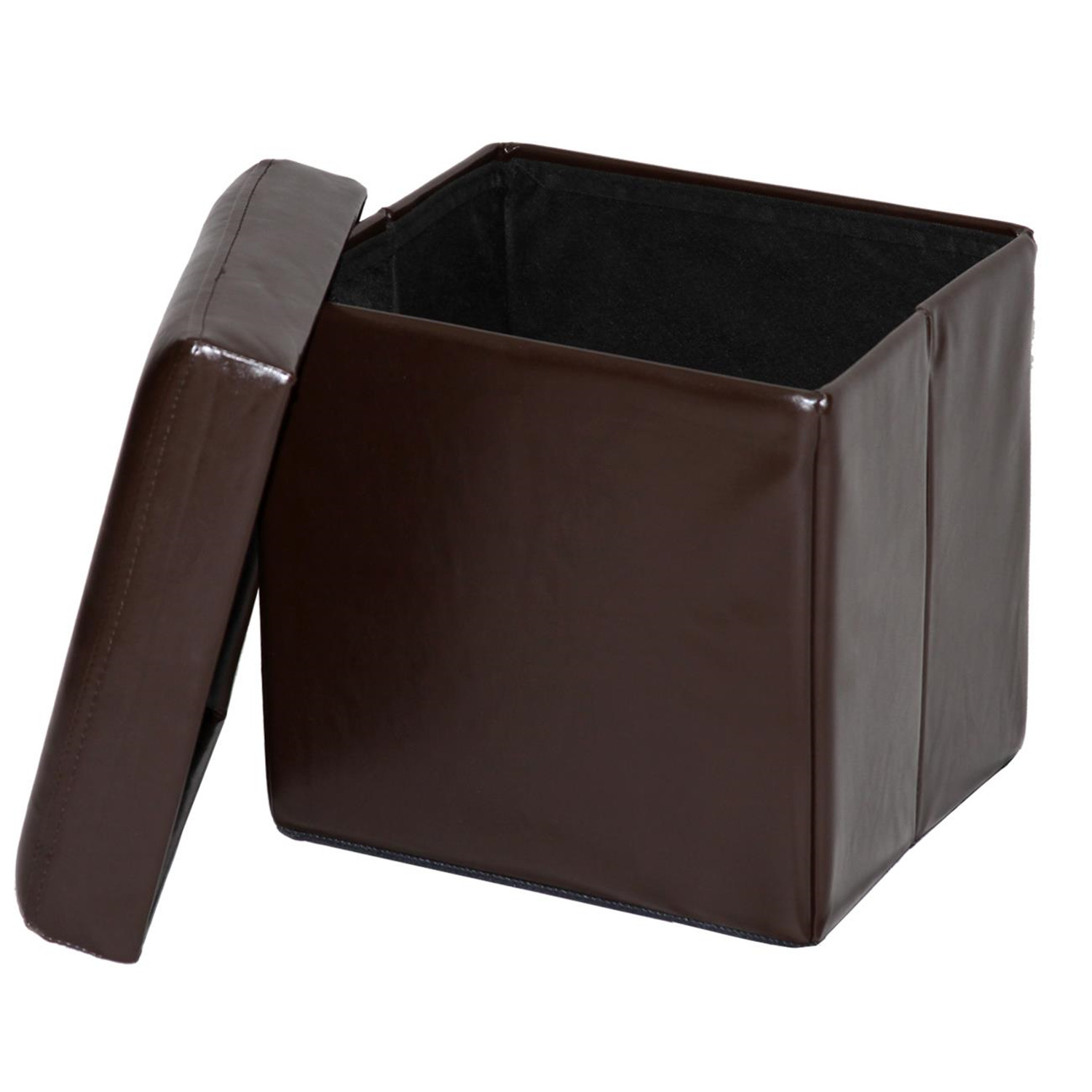 Home source folding storage ottoman by oj commerce for Home source