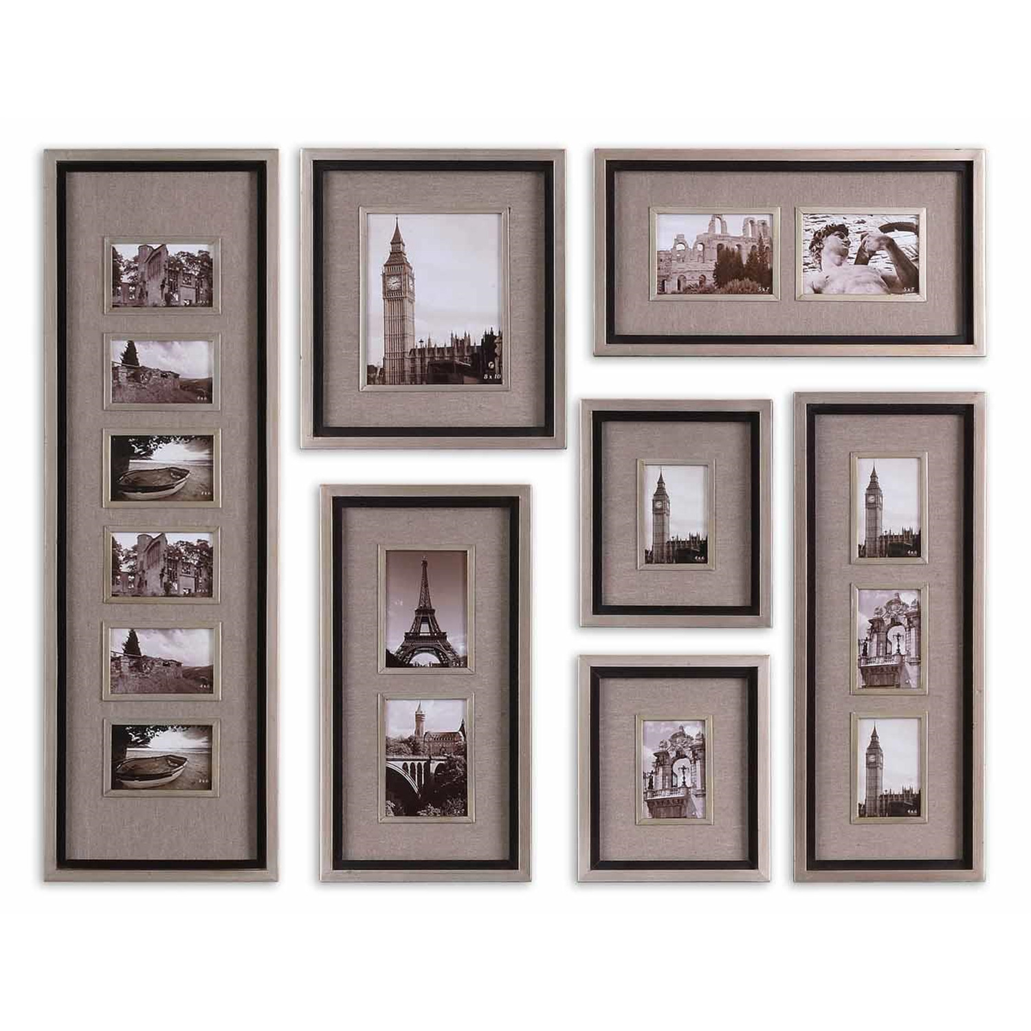 Wall Art Silver Frames : Uttermost massena photo frame collage s by oj