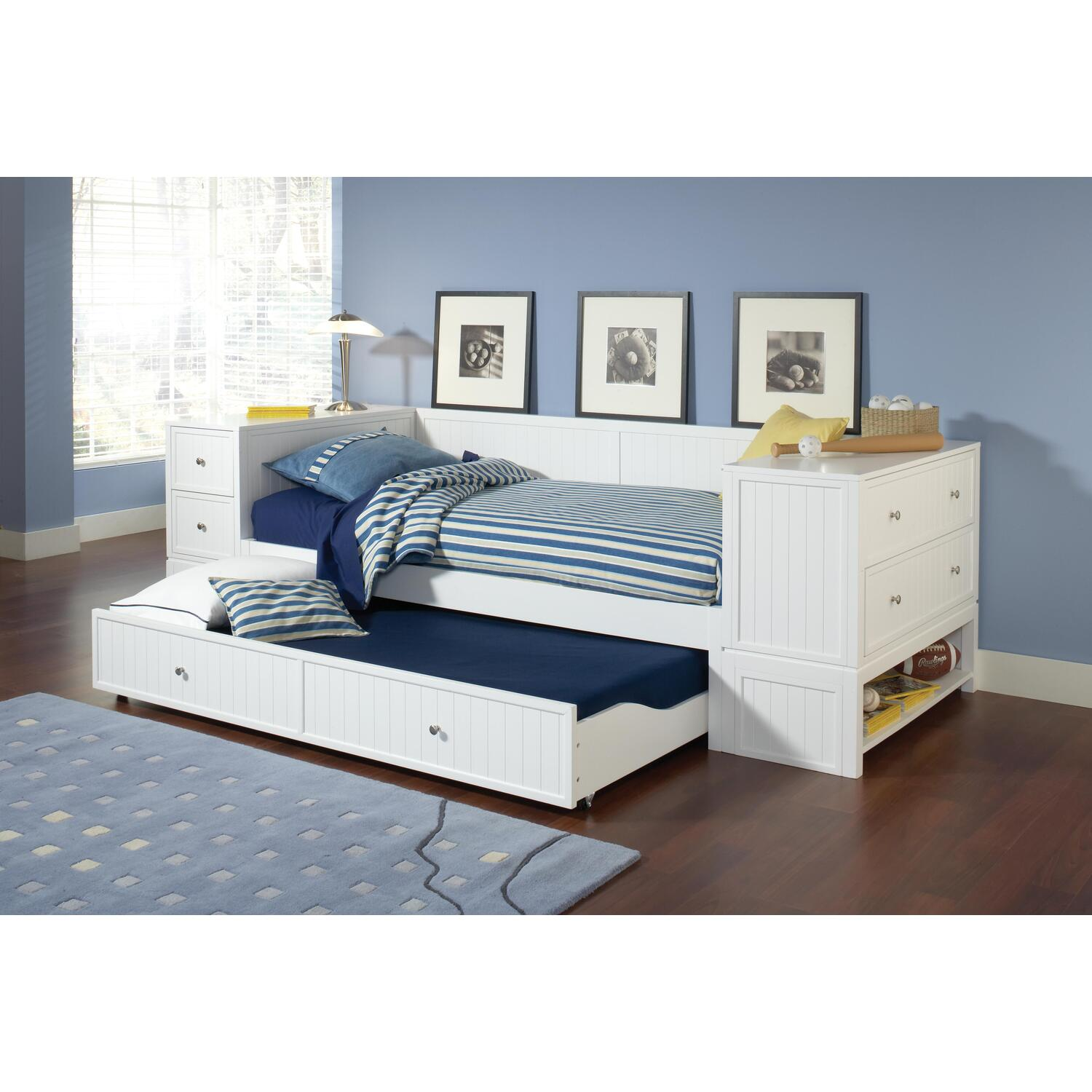 New Bookcase Toy Box White Finish Bedroom Playroom Child: Hillsdale Furniture Cody 4pc Daybed Set, Includes Daybed