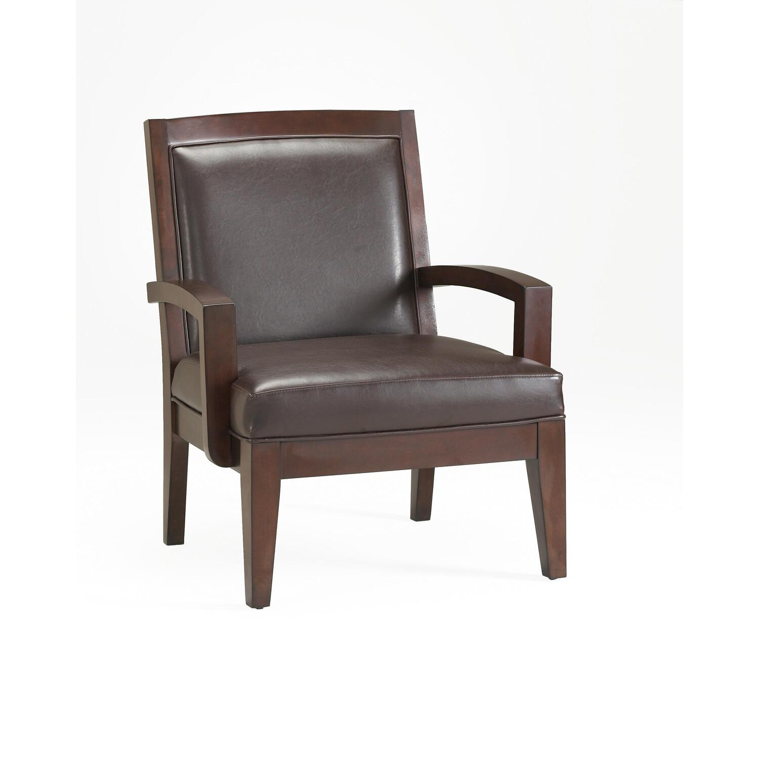 Accent Chair Modern Baxton Studio Velda Brown Modern