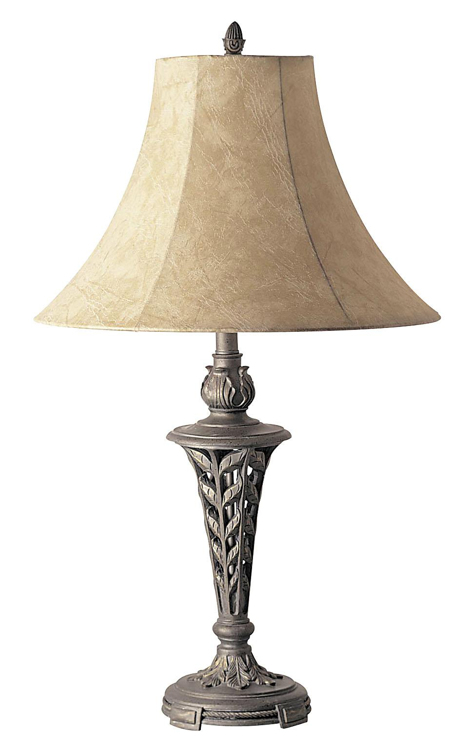 Vintage Table Lamps : Antique brass table lamp