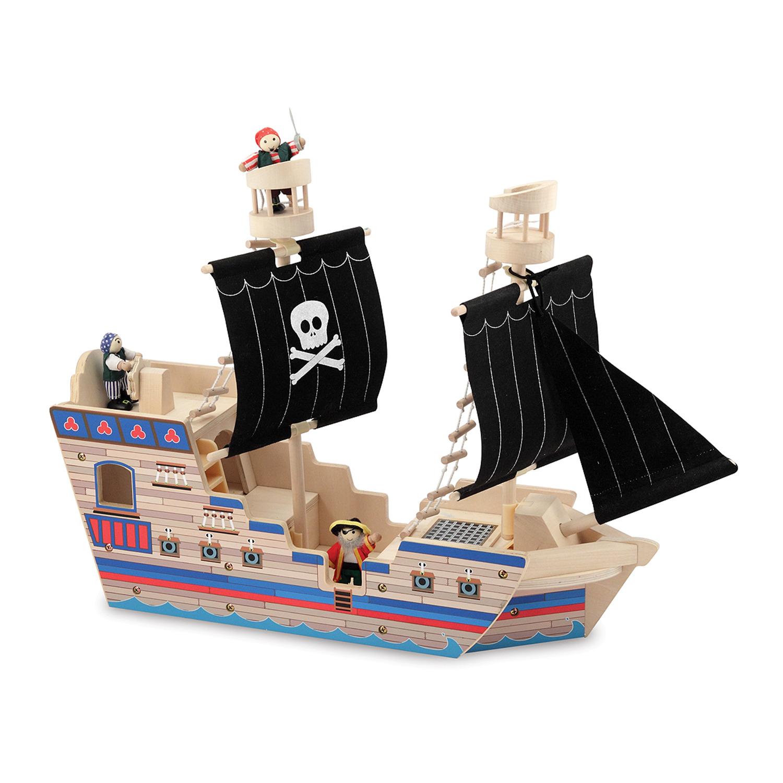 Как сделать пиратский корабль из дерева своими руками