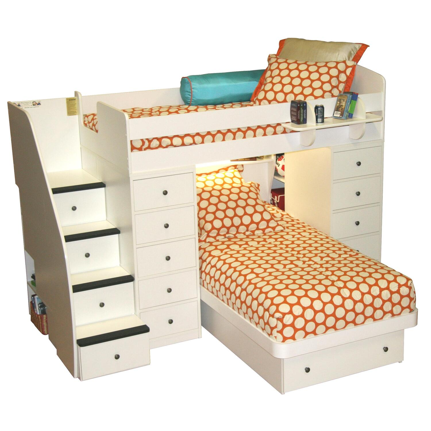 berg furniture space saver t t with 2 chests stairs