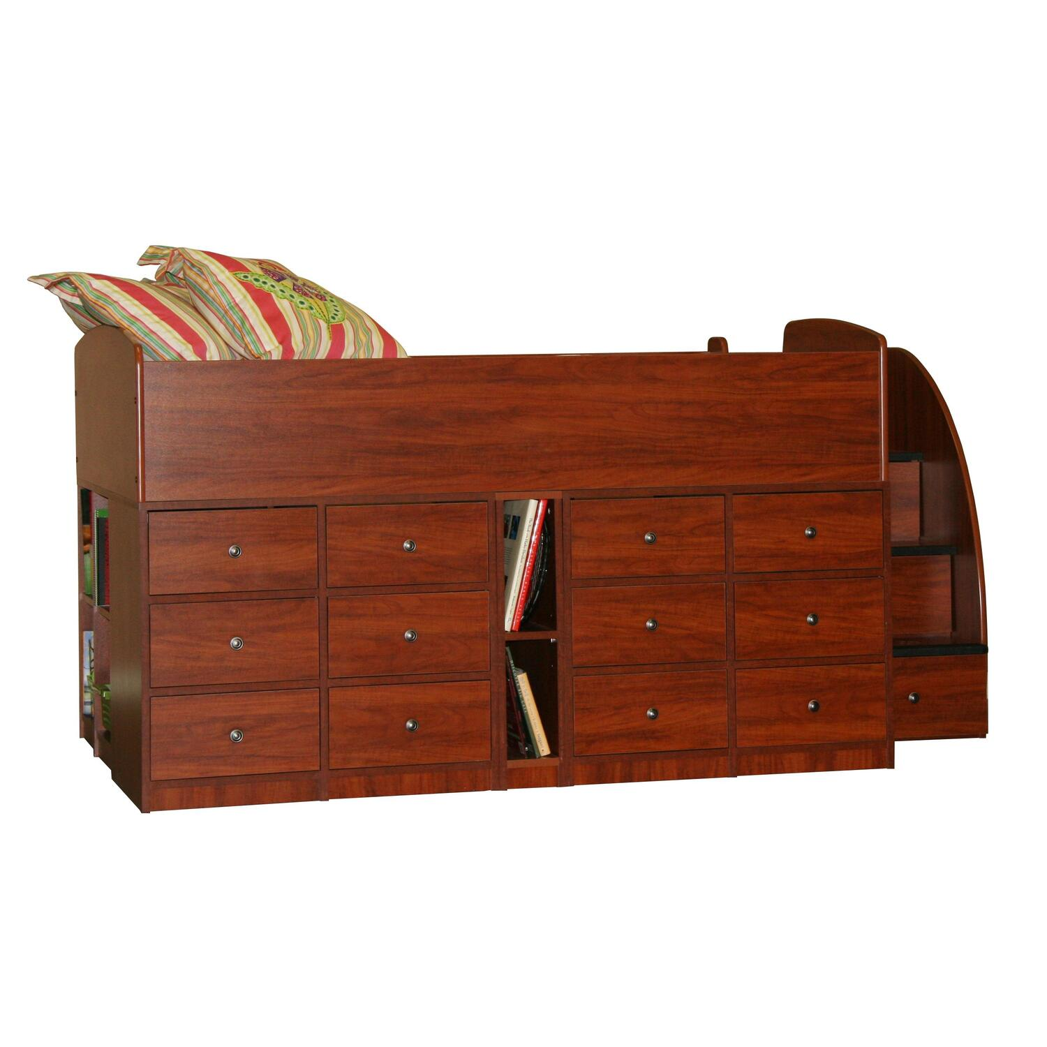 Berg Furniture Captain S Full Bed 12 Drawer With Stairs By
