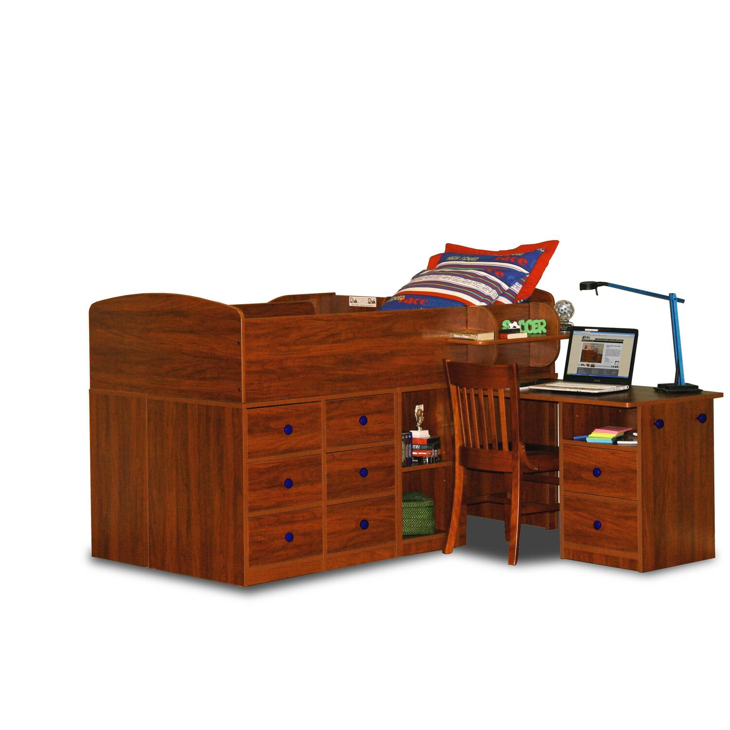berg furniture captain s bed with pull out desk twin by oj commerce 1. Black Bedroom Furniture Sets. Home Design Ideas