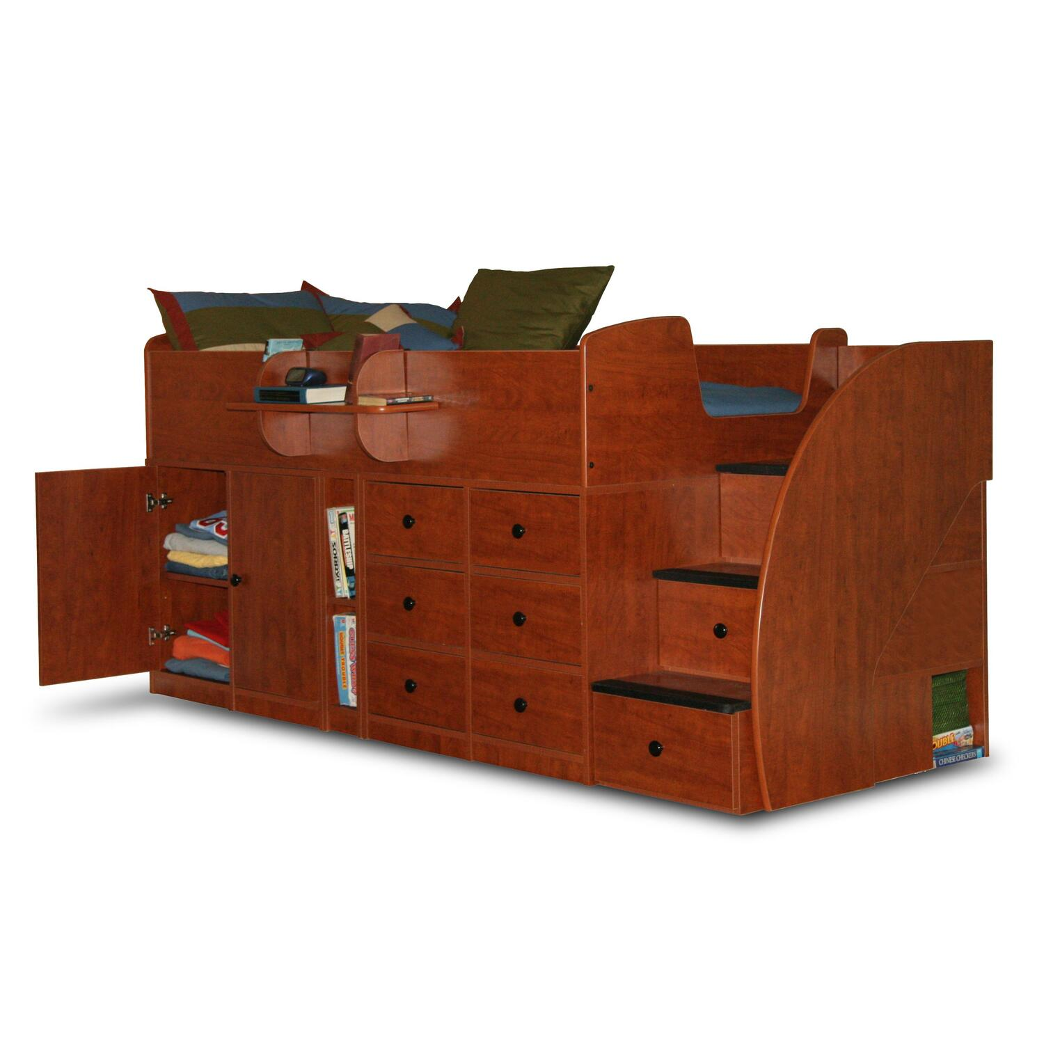 Berg Furniture Captain 39 S Bed Twin With Drawers Cabinet 3
