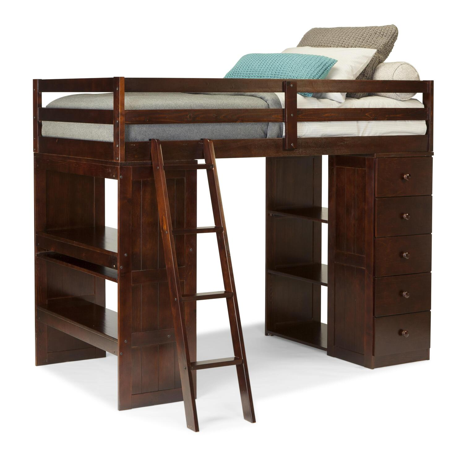 canwood canwood skyway twin loft bed with desk storage