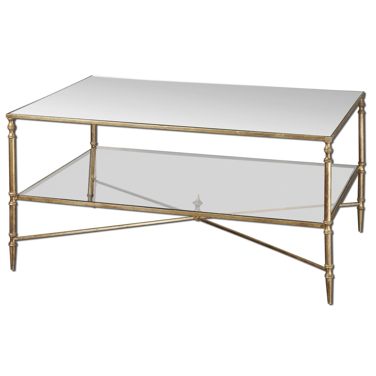 Henzler Mirrored Glass Coffee Table by OJ Commerce 24276  $554.40