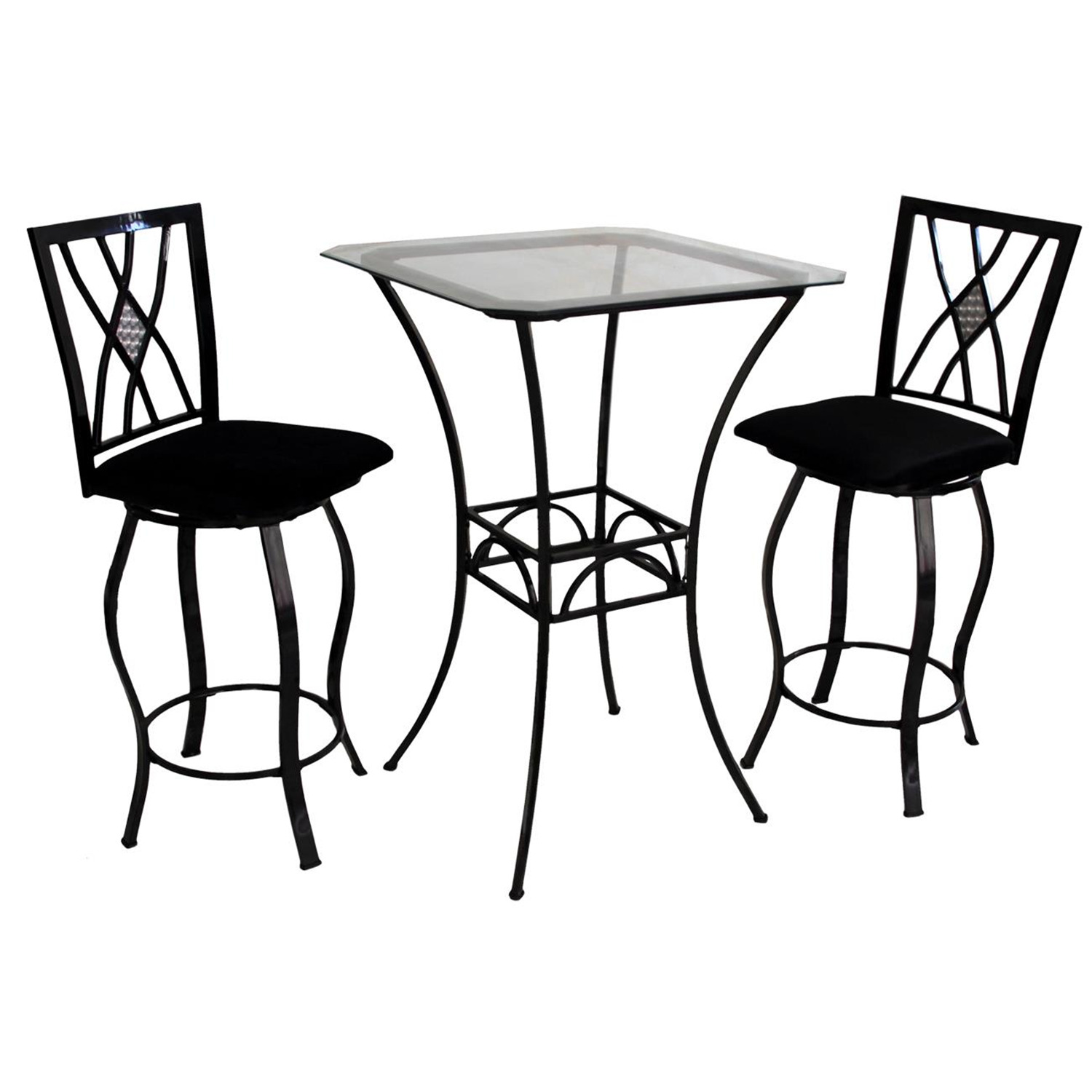 Home Source Pub Table 4 Chairs By OJ Commerce 24402