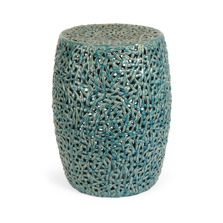 Tobias Cutwork Garden Stool By Oj Commerce 25060 166 32