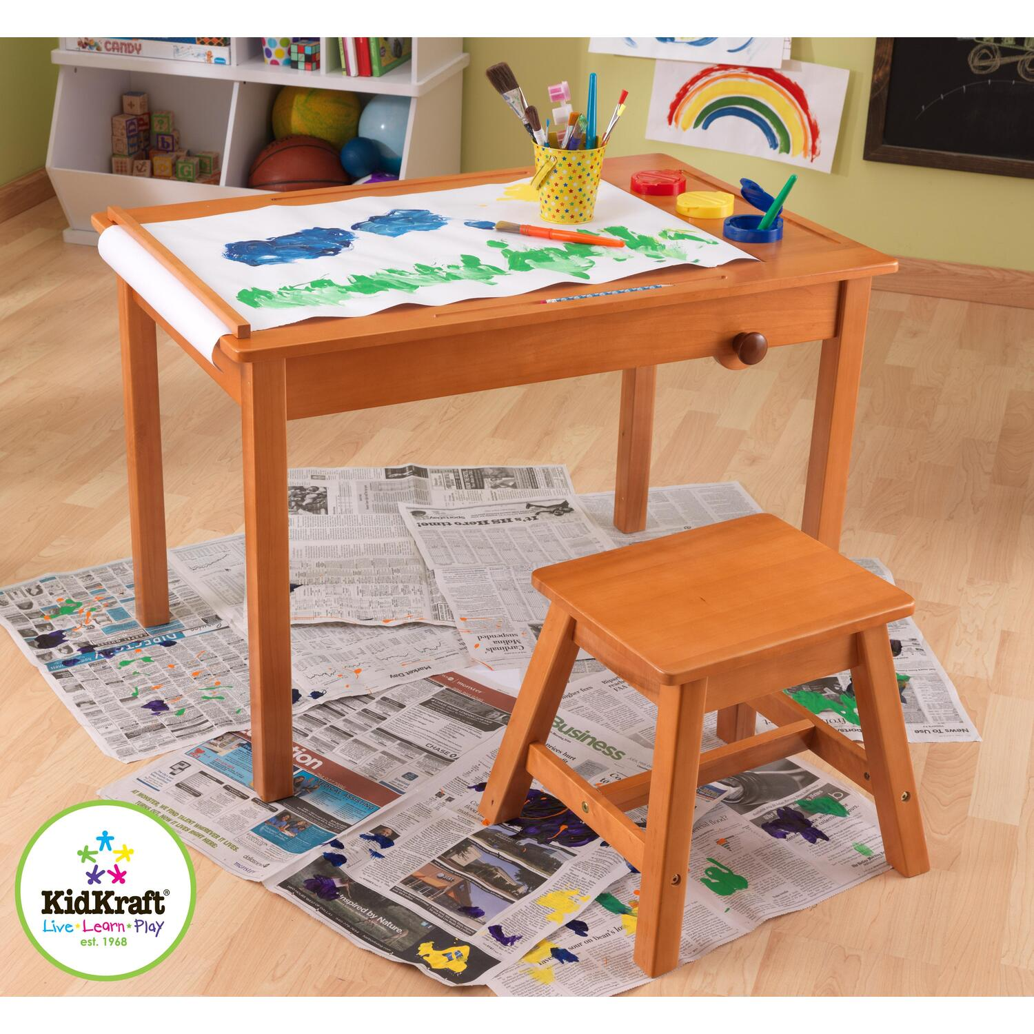 Kidkraft Art Table With Stool By Oj Commerce 26952 134 99