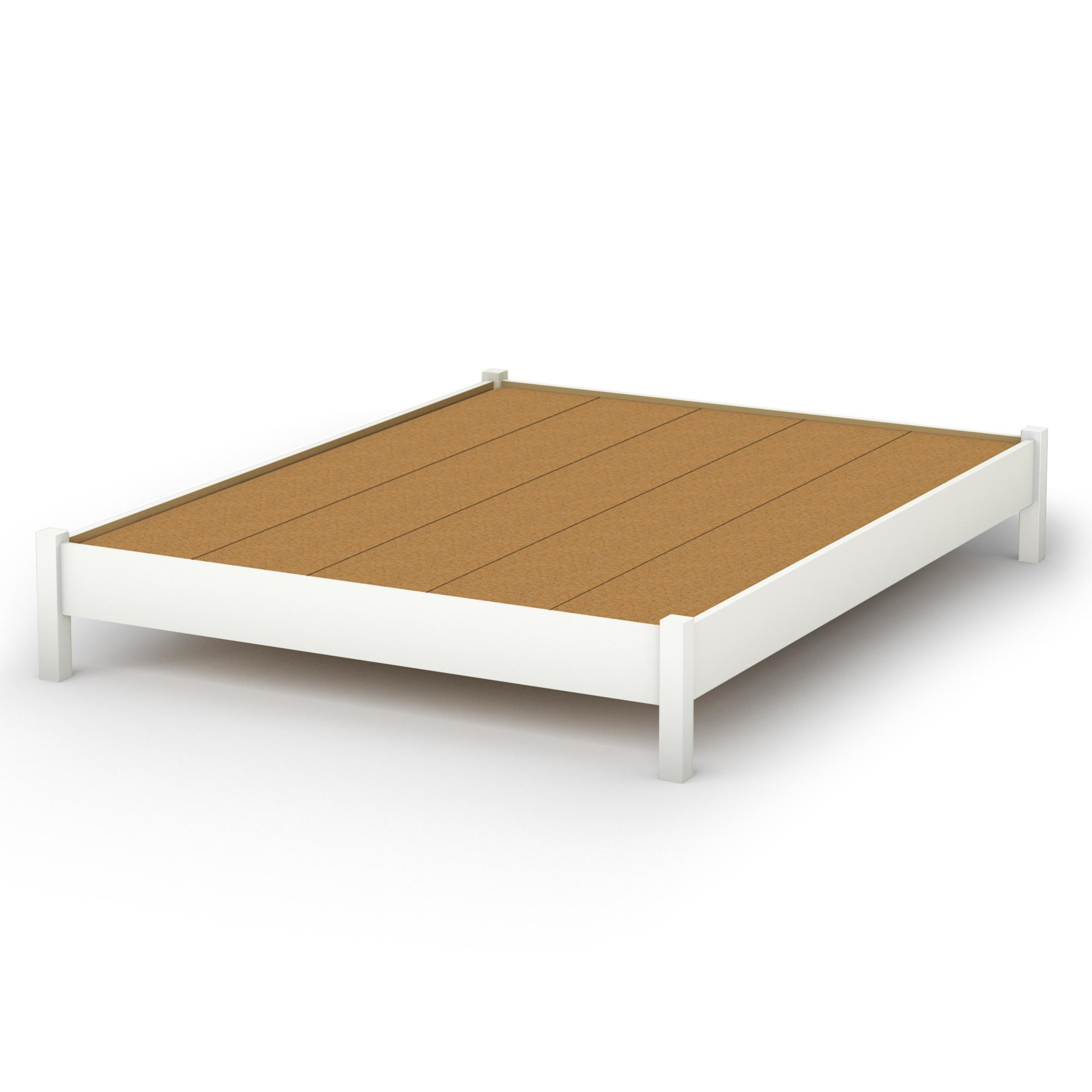 White Queen Platform Bed Frame 2000 x 2000