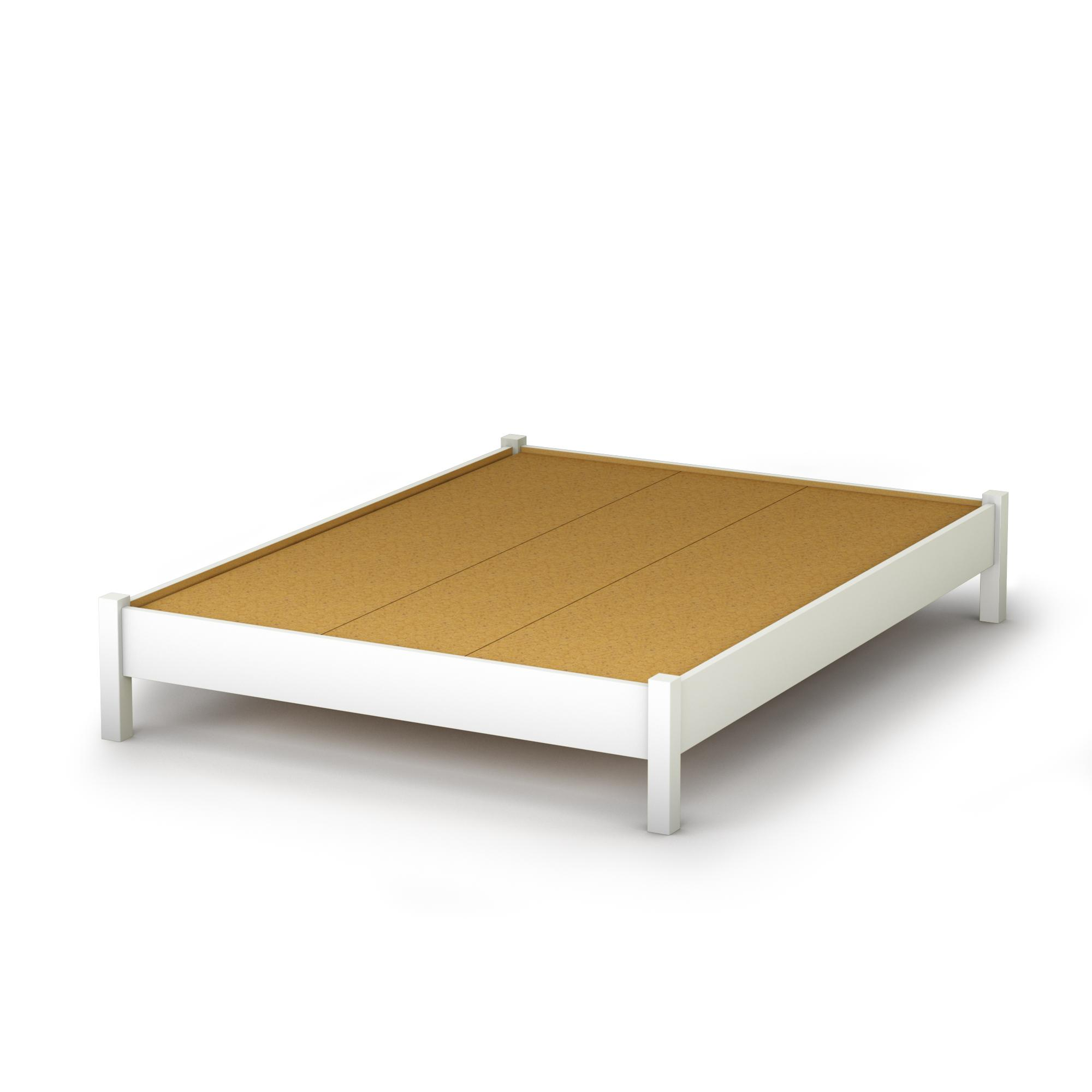 South Shore Step One Full Platform Bed 54 In Pure White By Oj Commerce 3050204