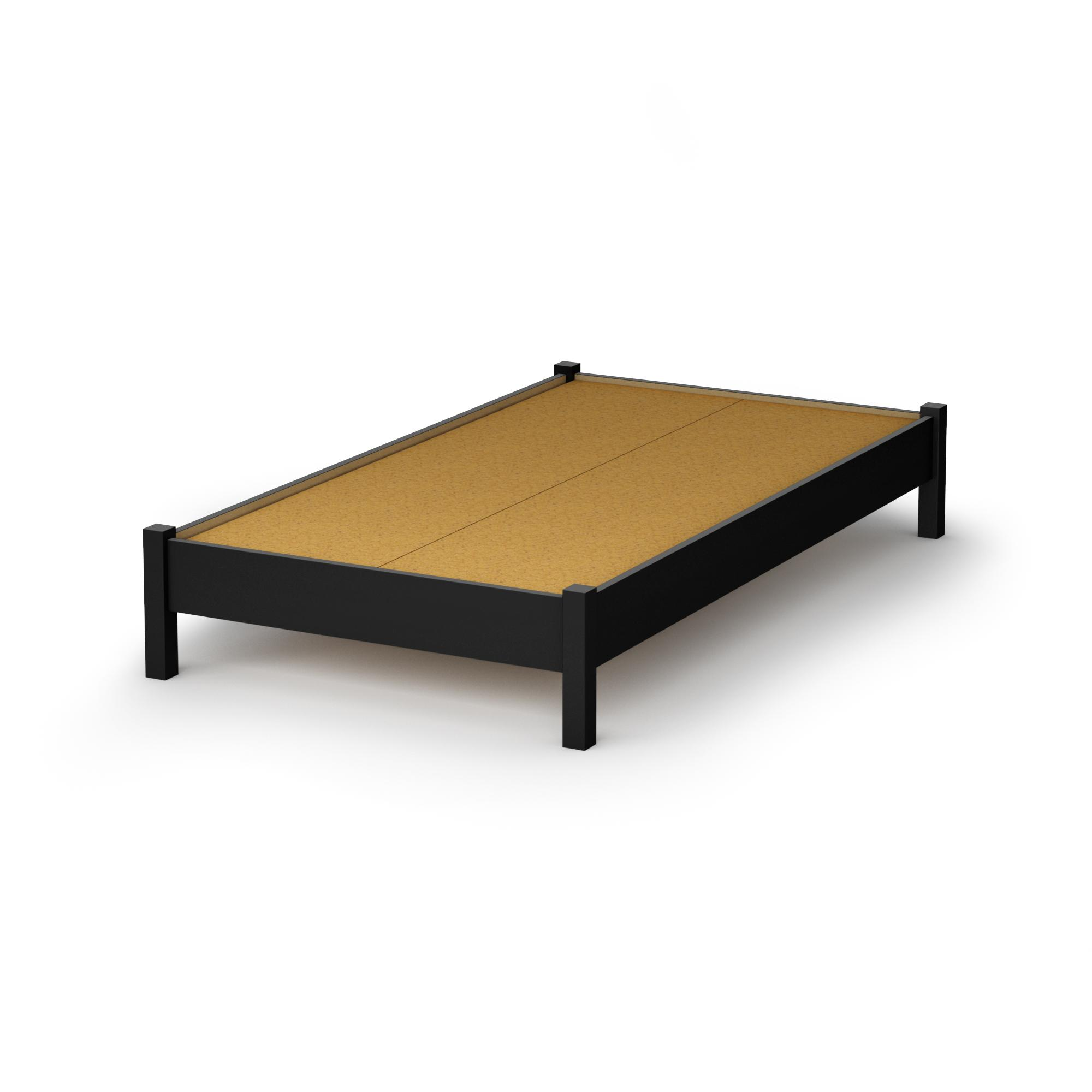 south shore step one twin platform bed 39 in pure black