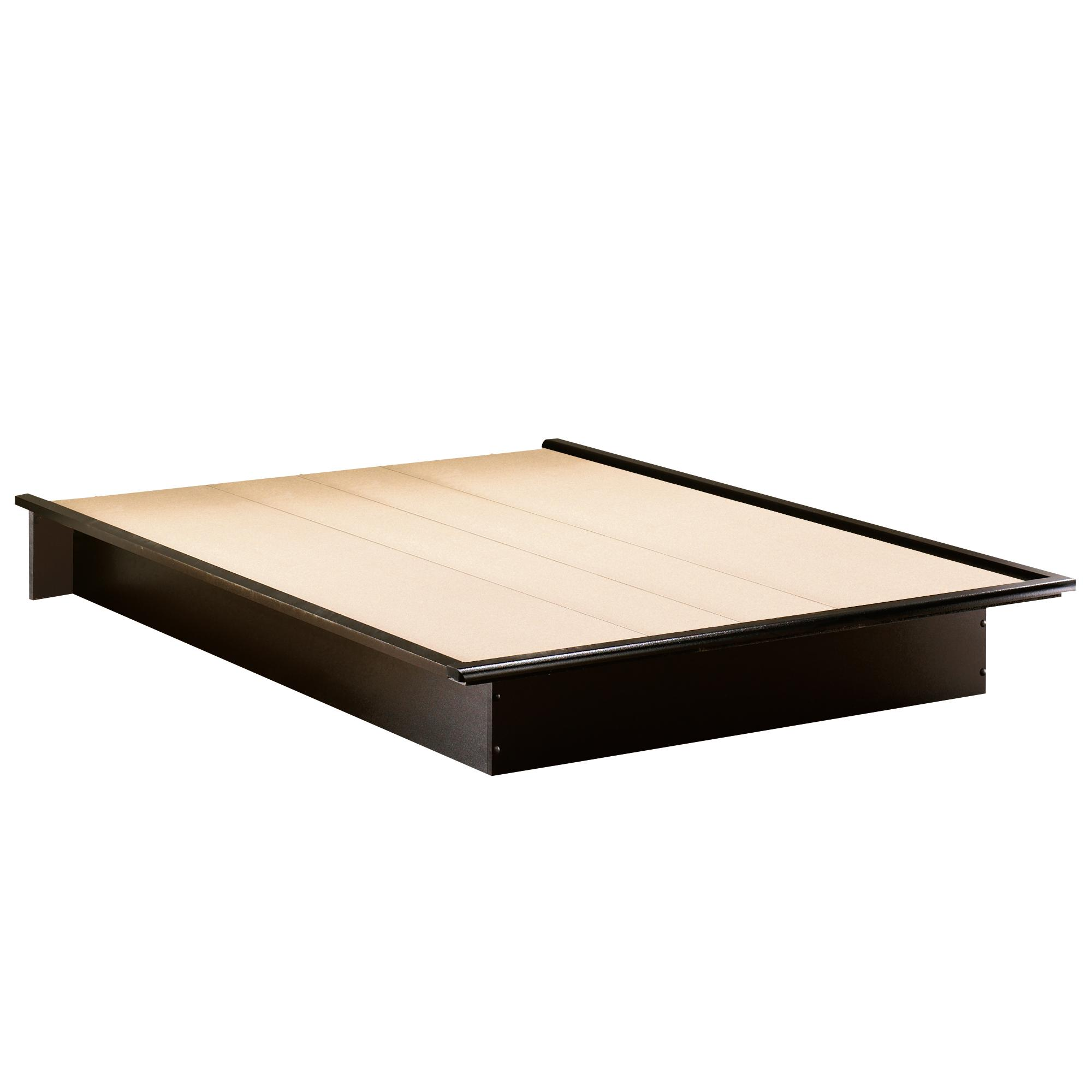 "South Shore Step One Queen Platform Bed (60"") in Pure Black by OJ ..."