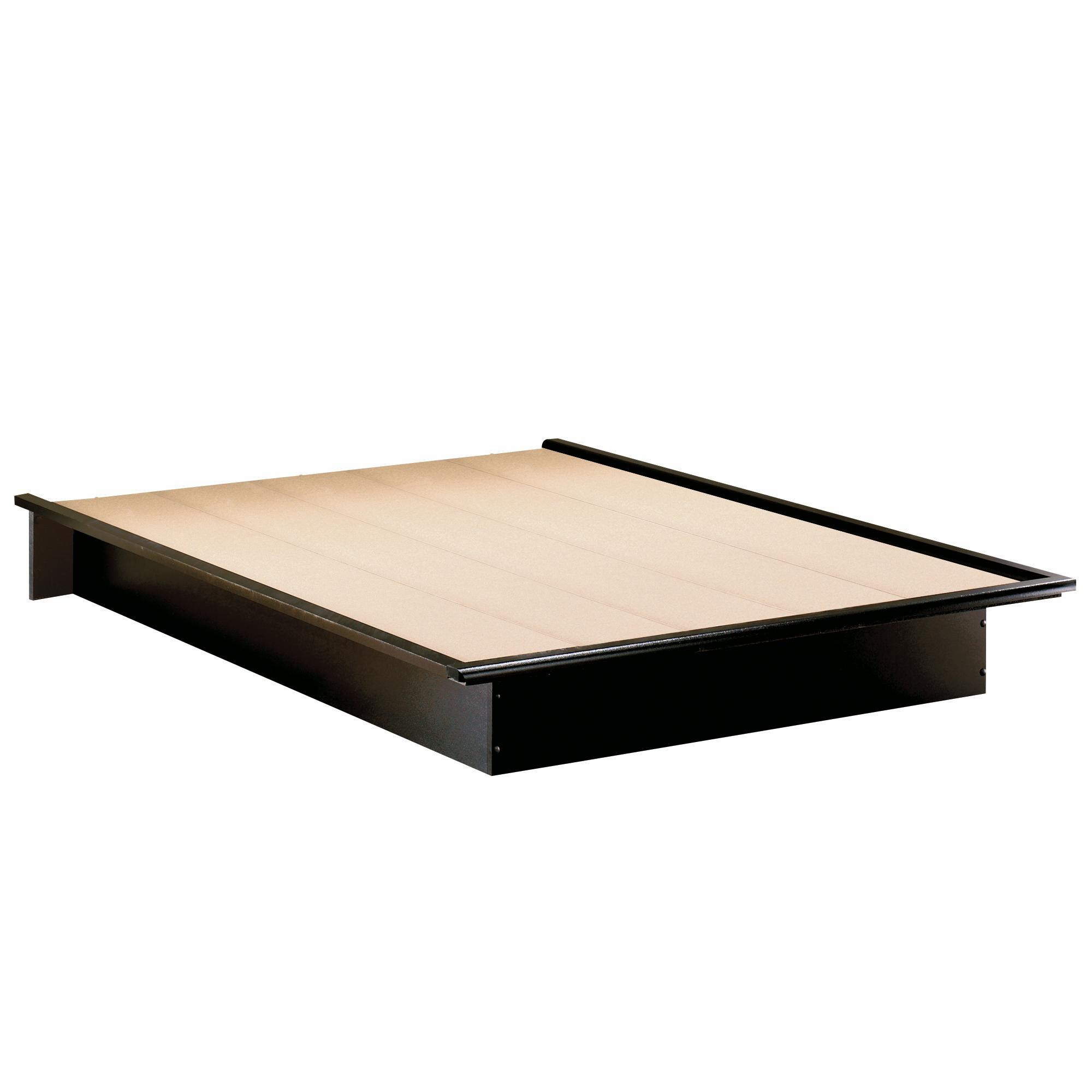 South Shore Step One Full Platform Bed 54 Quot In Pure Black