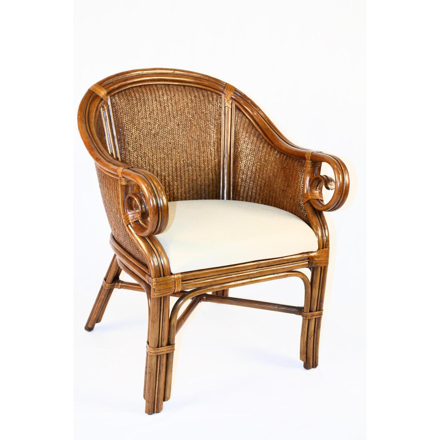 Hospitality Rattan Indoor Rattan Wicker Club Chair By Oj Commerce 307 3364 Tca