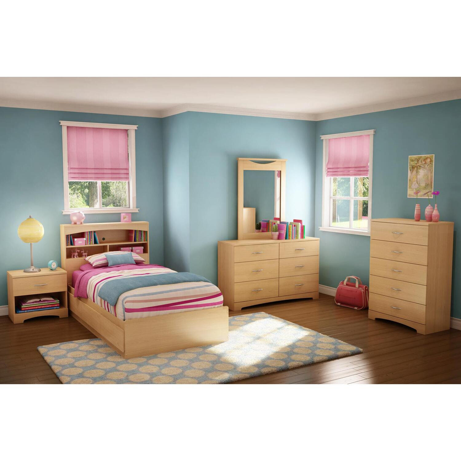 South Shore Copley Twin Mates 6 Piece Bedroom Set By Oj Commerce