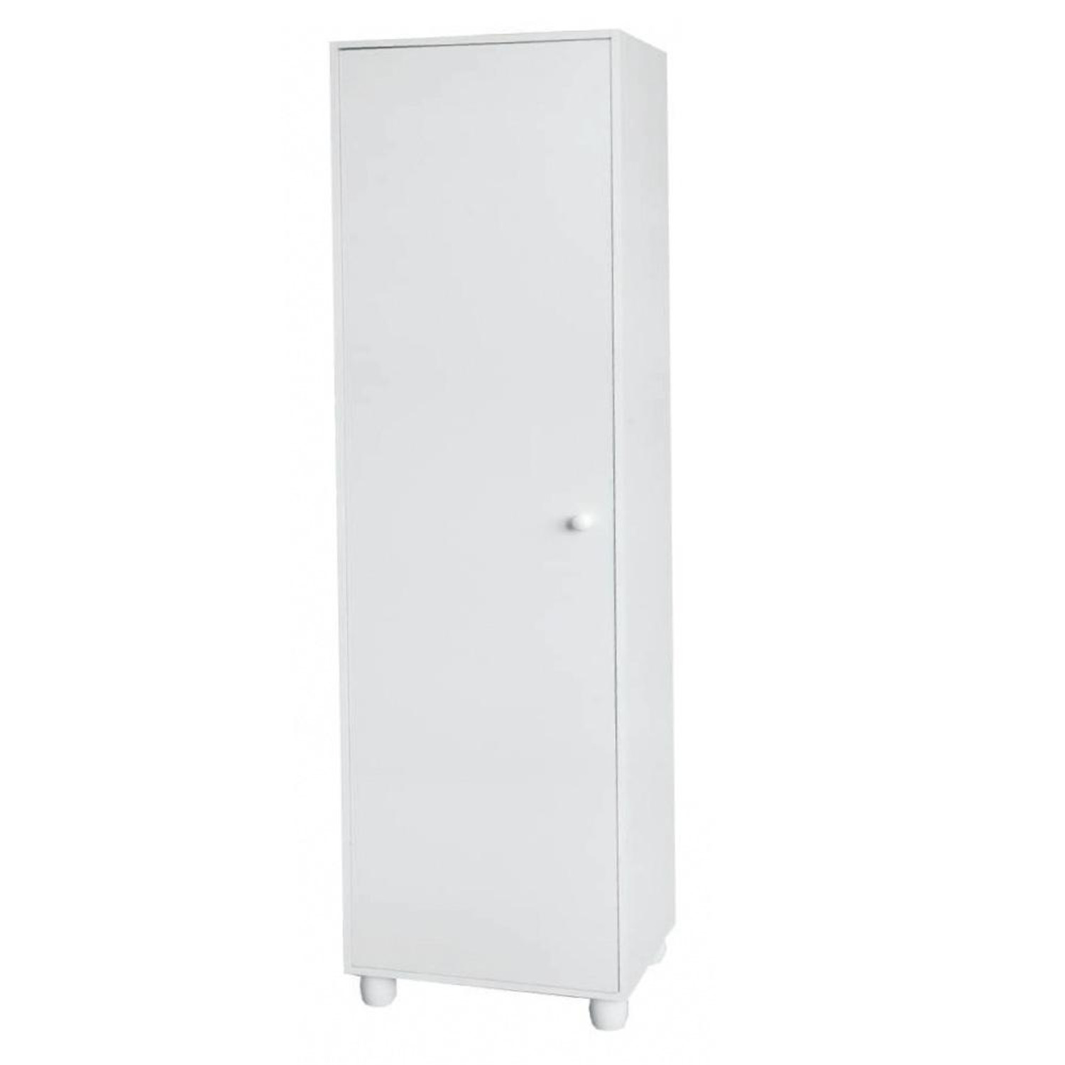 Home source 1 door storage cabinet white by oj commerce for 1 door storage cabinet