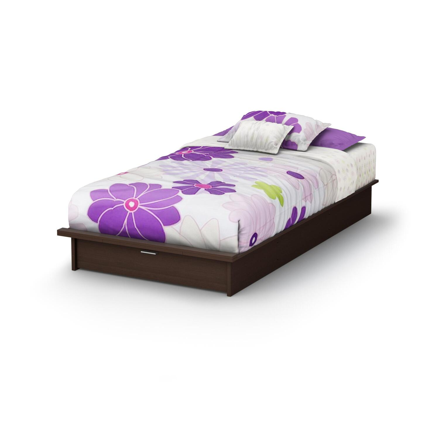 """South Shore Libra Twin Platform Bed 39"""" with drawer by"""