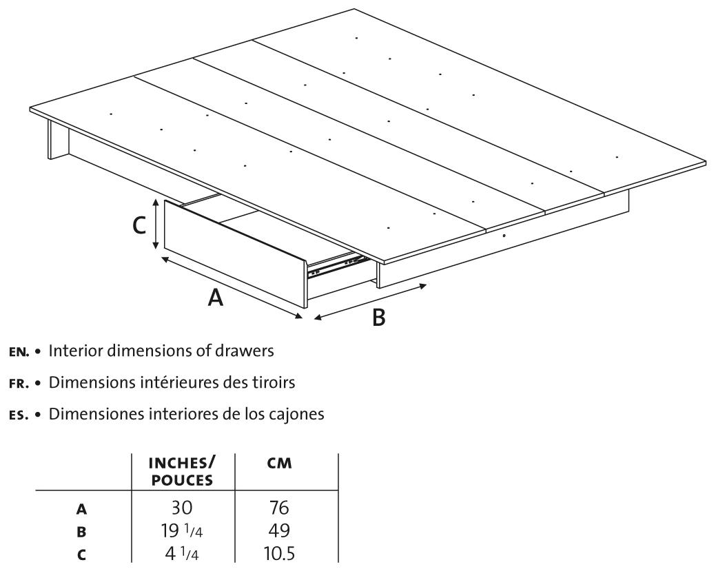 White Queen Platform Bed With Drawers 1039 x 826