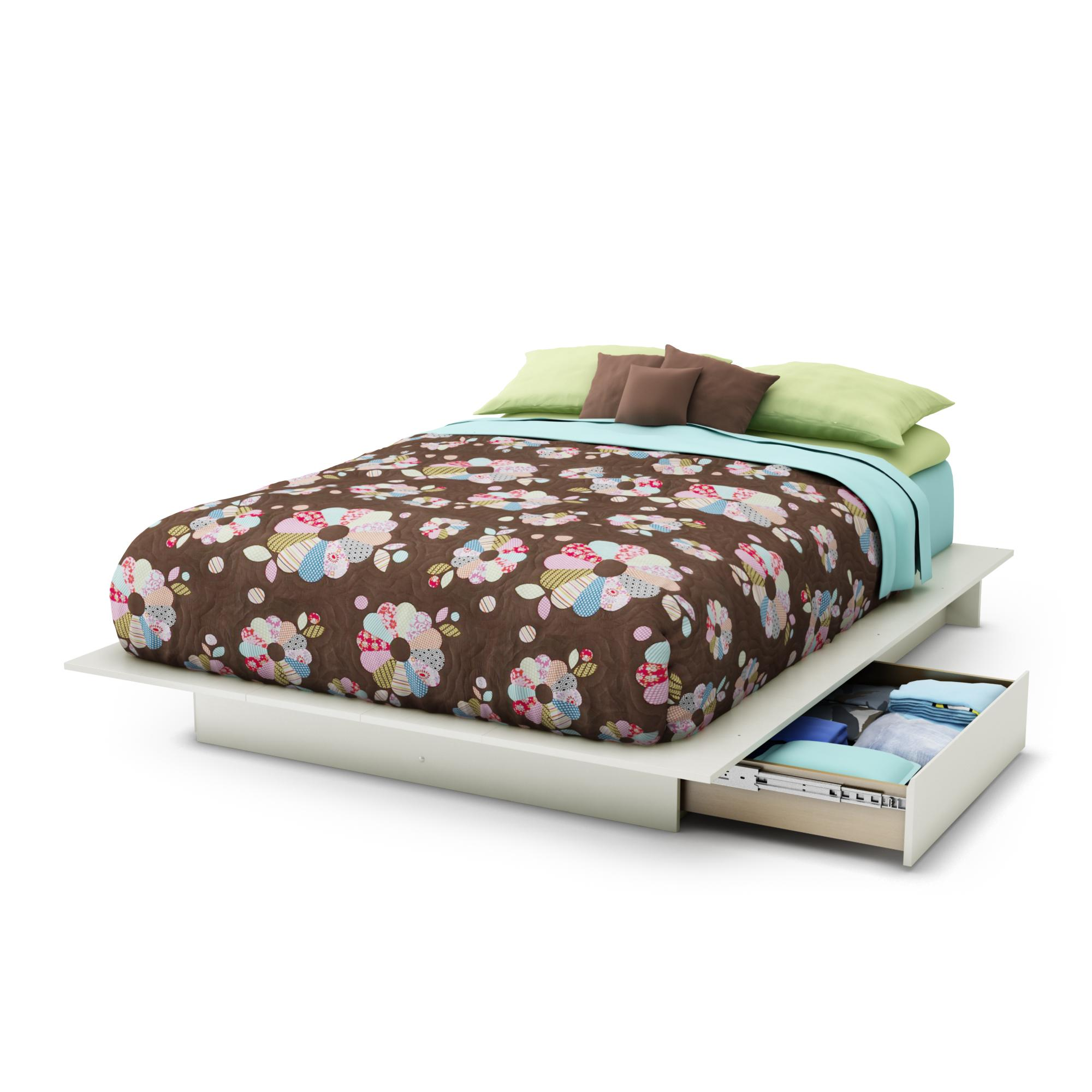 Full Bed And Queen Bed: South Shore Step One Full/Queen Platform Bed (54/60