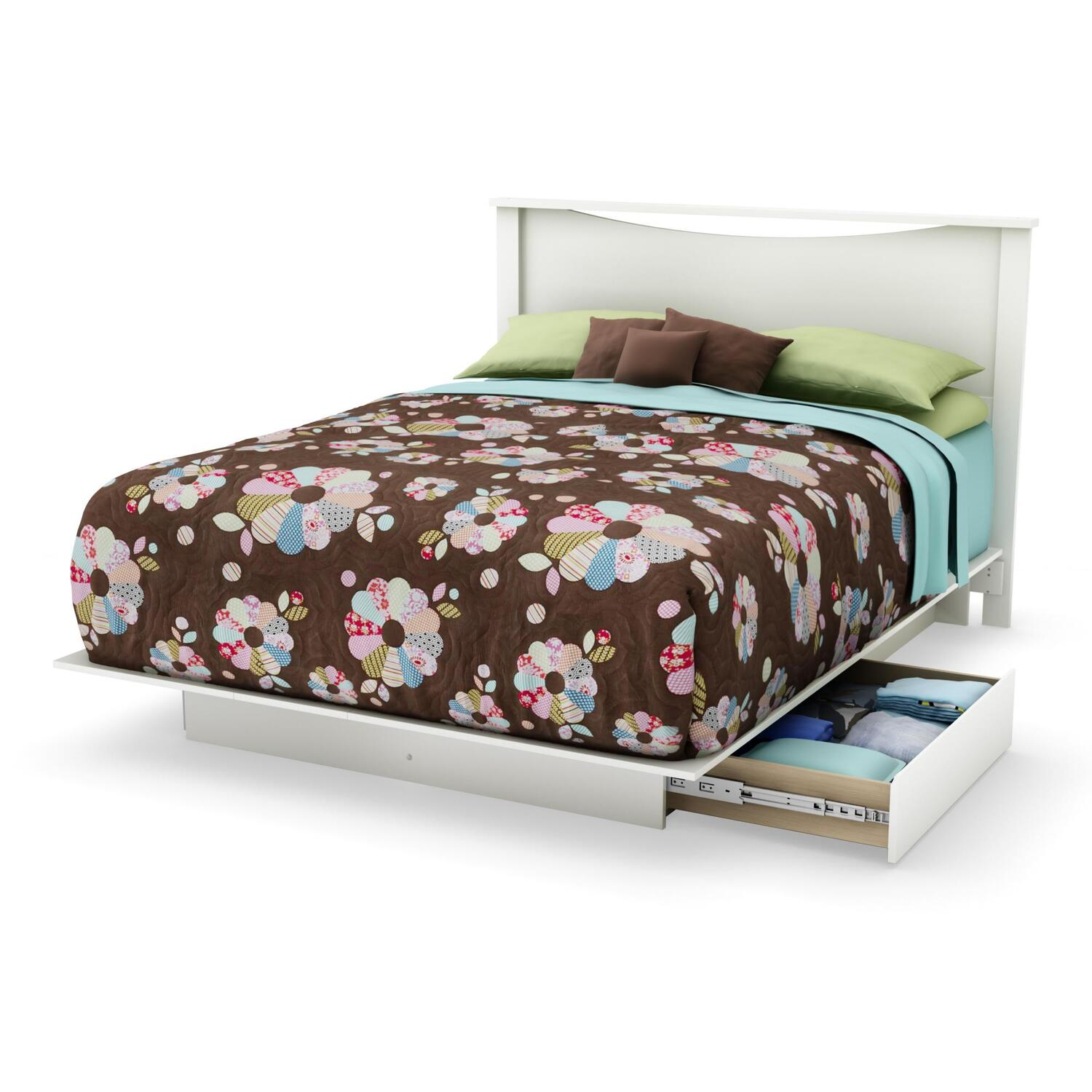 Platform Bed With Drawers Step one queen platform bed