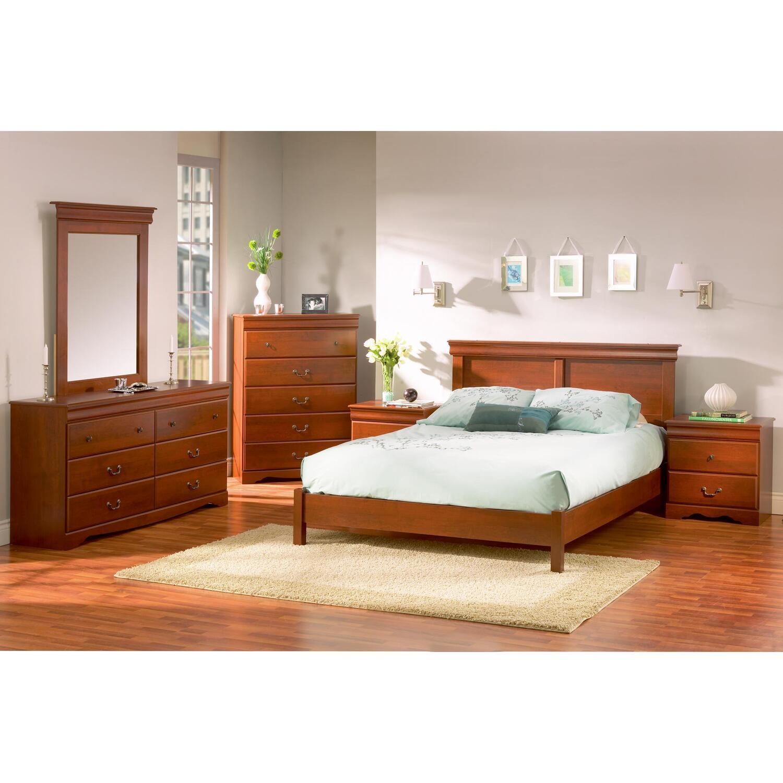 south shore vintage queen platform 6 piece bedroom set by oj commerce