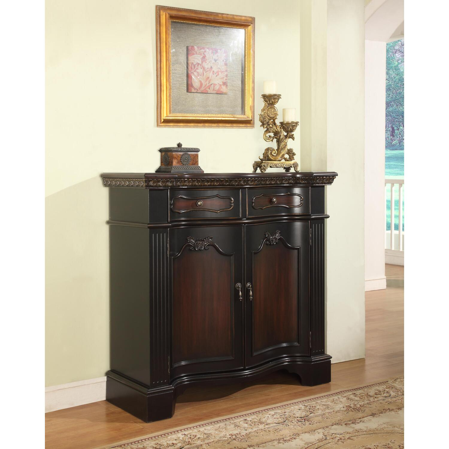 Powell Fluted Pilaster Cabinet By Oj Commerce 819 00