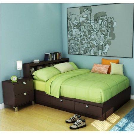 south shore kids full wood storage bed 3 piece bedroom set in