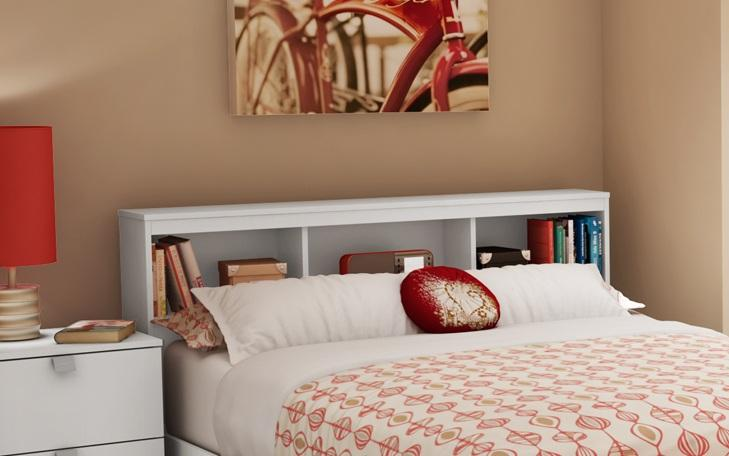 South Shore Sparkling Full Bookcase Headboard (54) by OJ