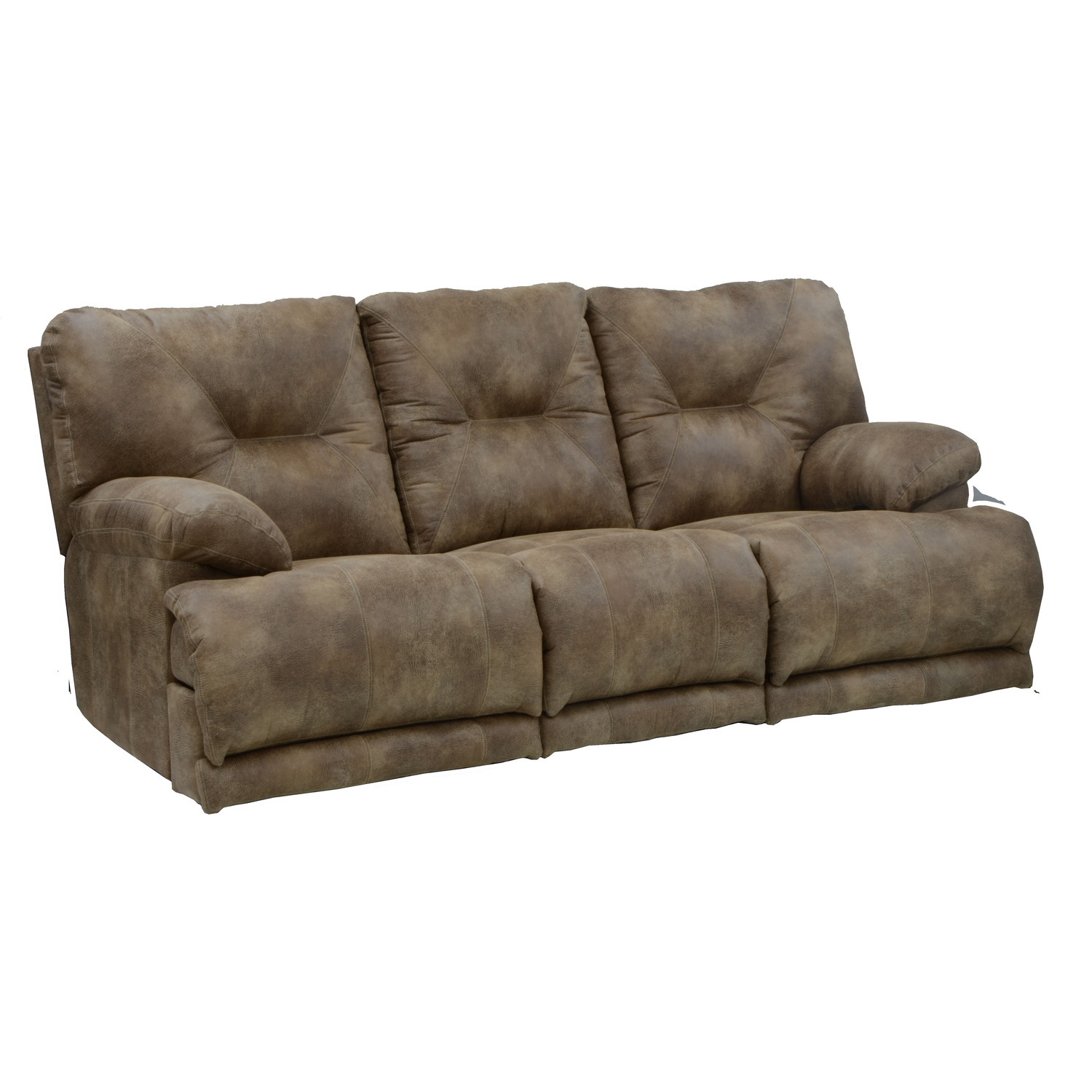 Catnapper voyager sofa with 3 recliners by oj commerce for Catnapper cloud nine chaise recliner