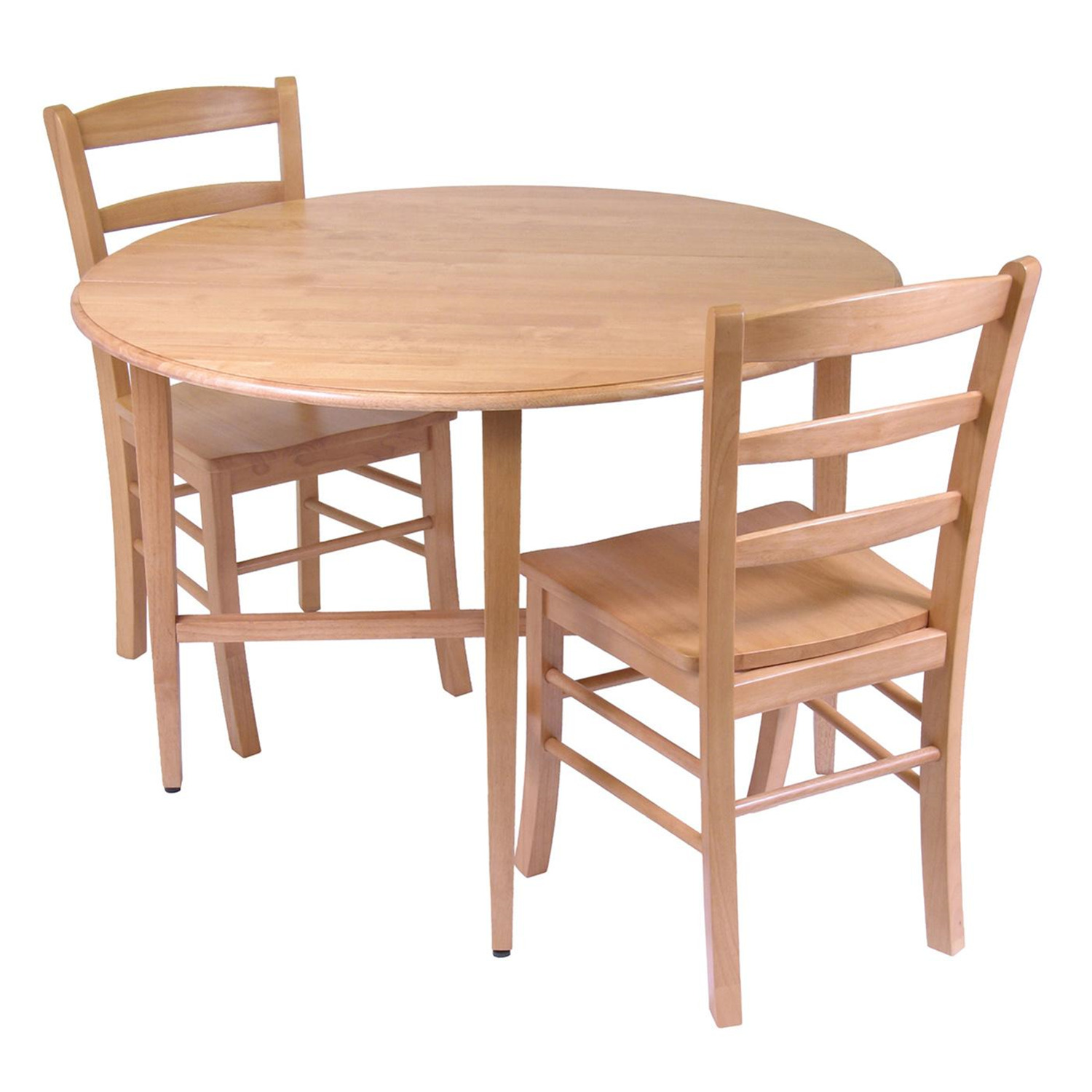 Winsome hannah 3pc dining set drop leaf table with 2 for Kitchen dining table chairs
