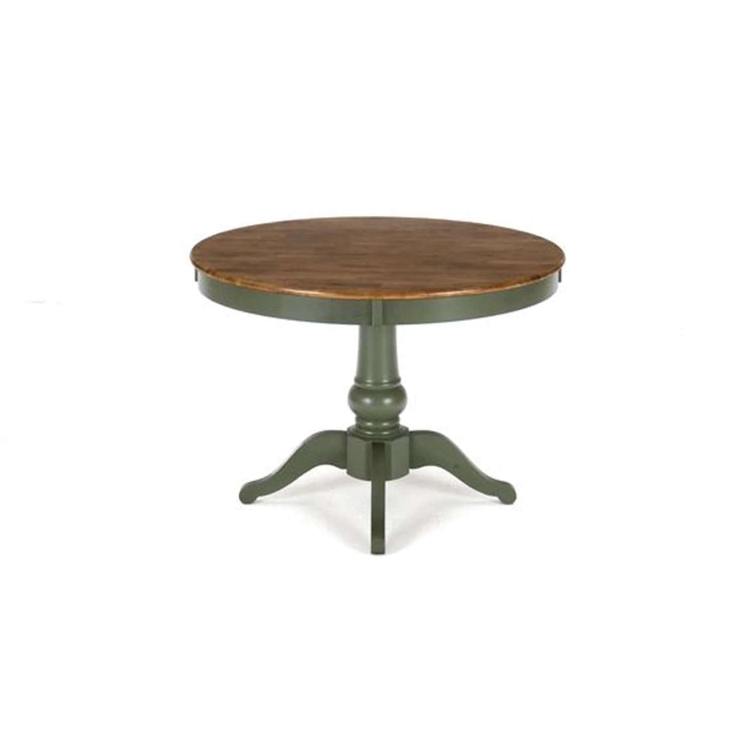 Jofran antique honey vintage green finished 48 round for Round table 99