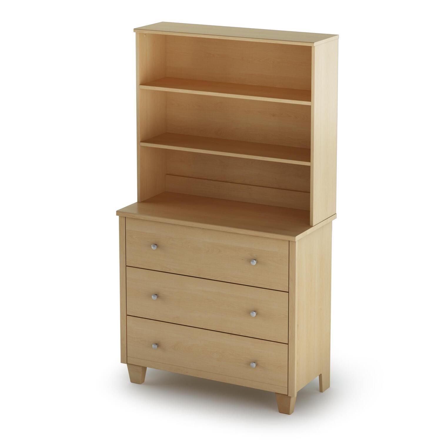 South Shore Clever 3 Drawer Chest With Hutch By Oj